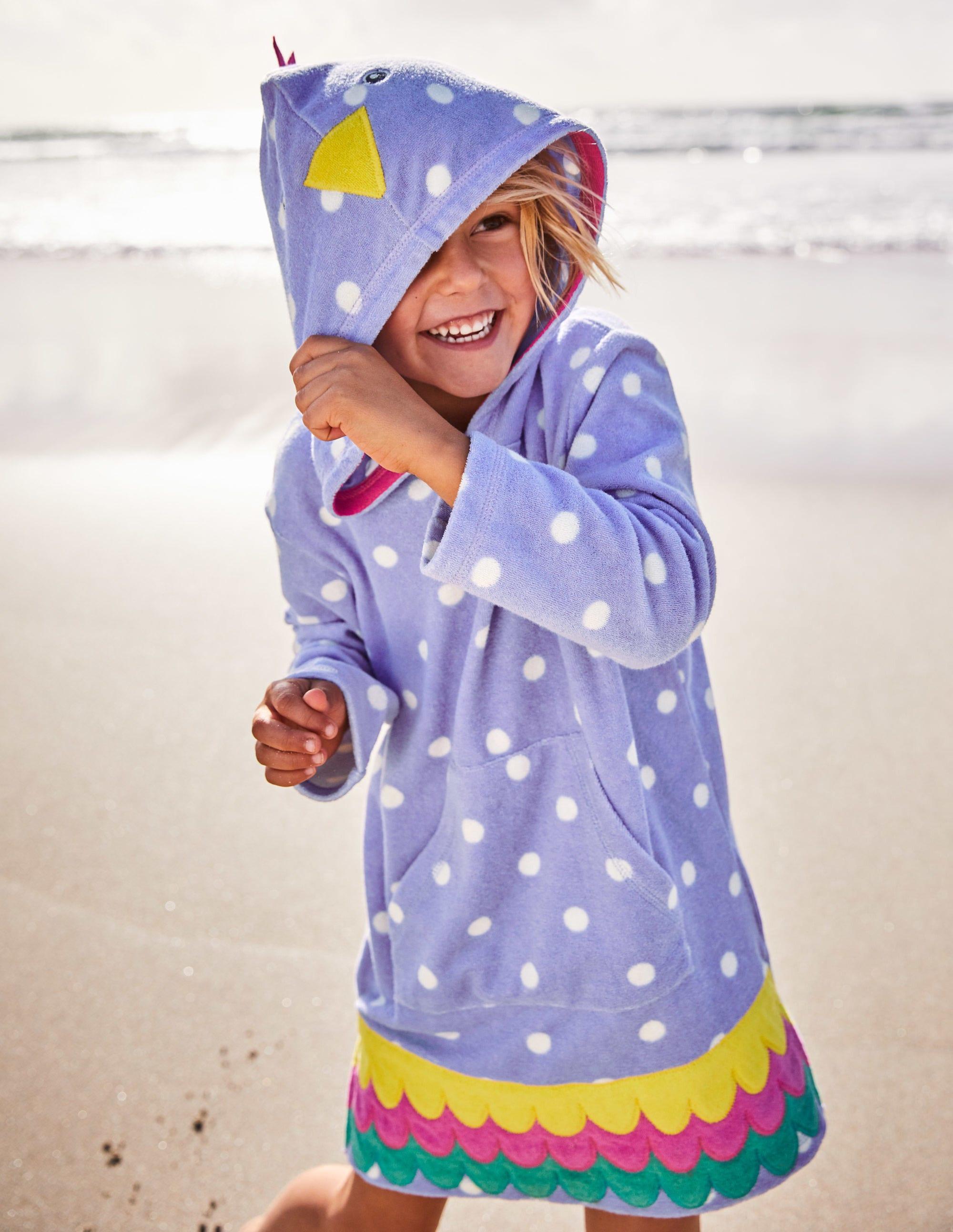 71e0b66926e7b Fun Towelling Beach Dress - Ivory Mermaid Stripe   Boden US