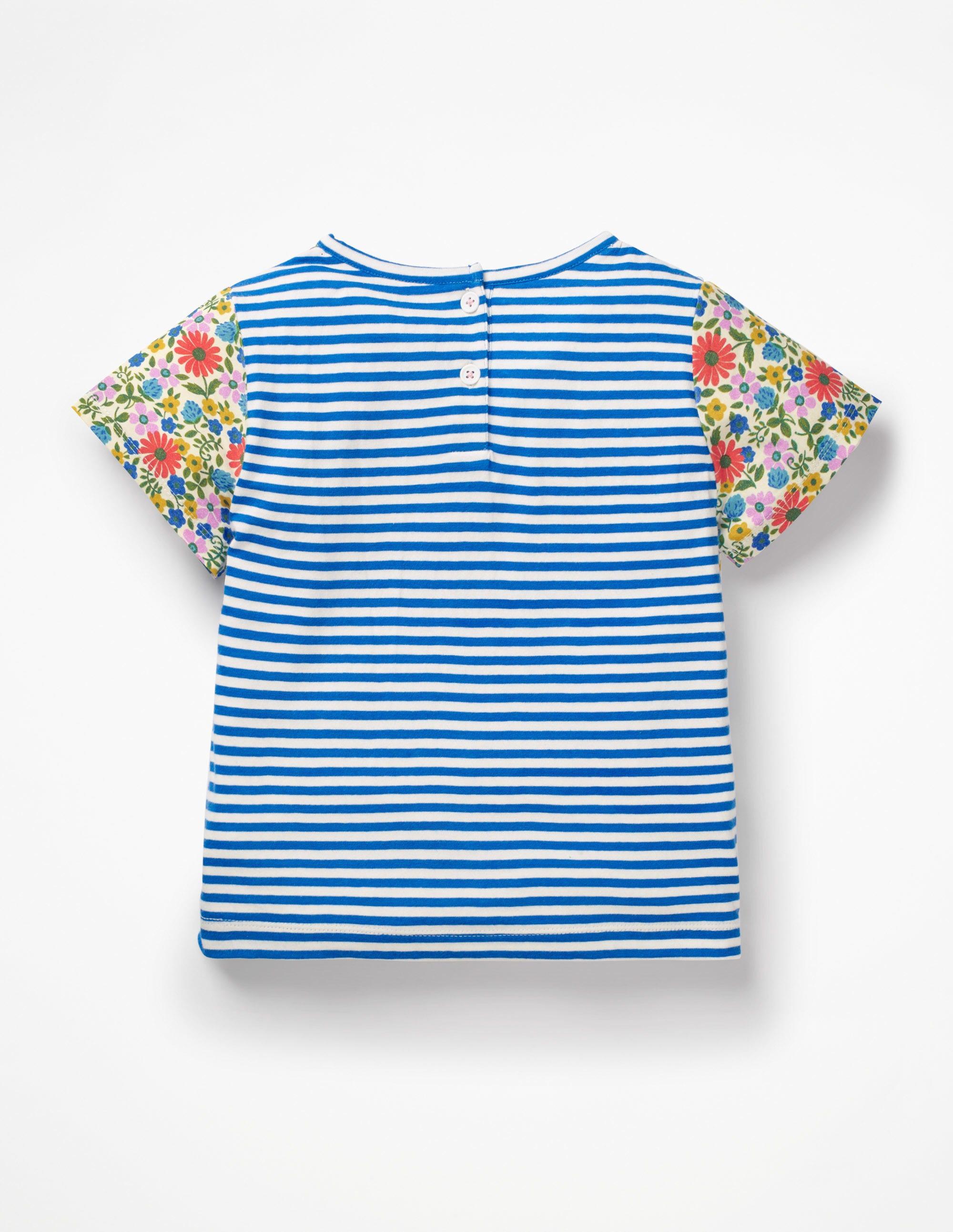 bf72606f0 T-Shirt Imprimé À Motif Pêle-Mêle - Poneys sauvages bleu élizabéthain
