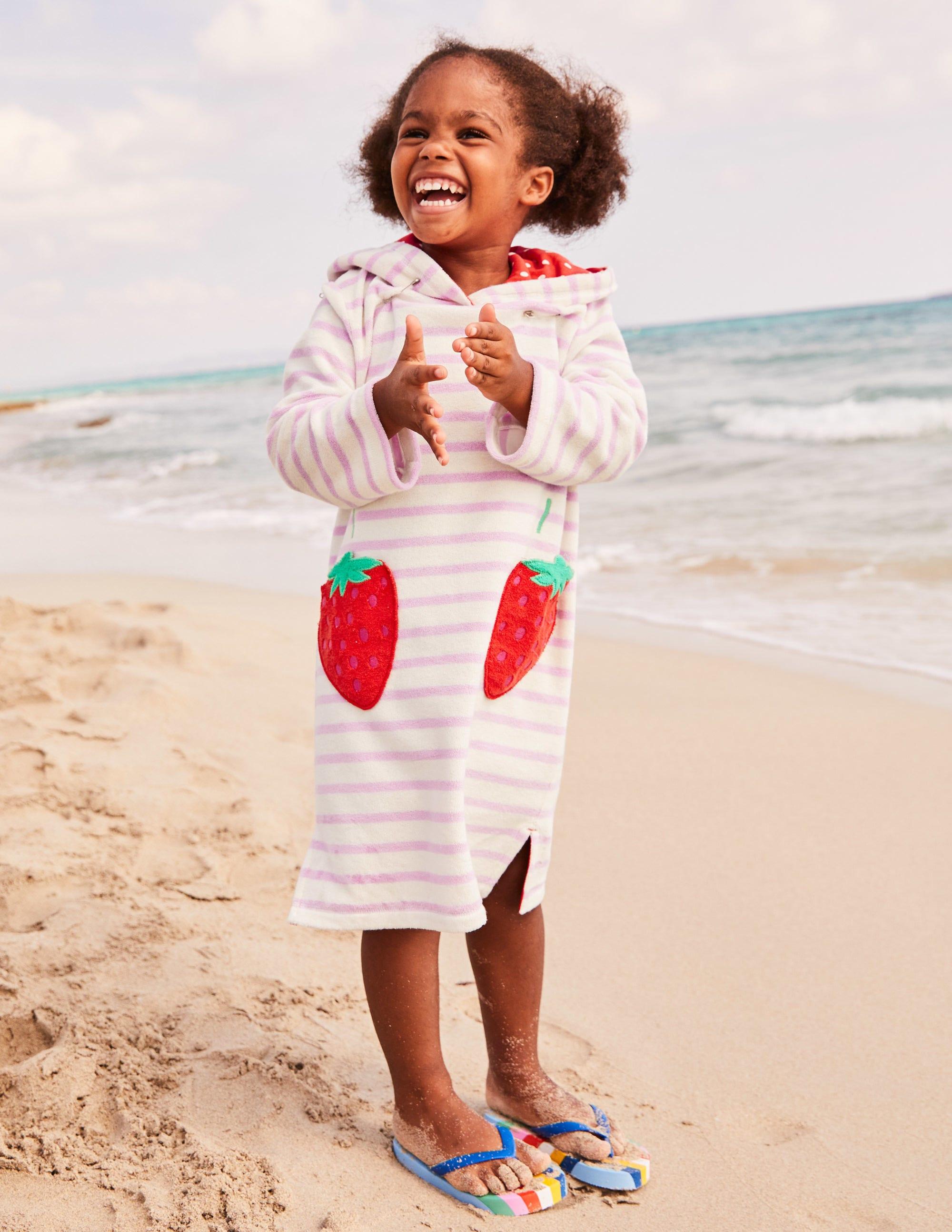 7bb3ae2fd308 Fun Towelling Beach Dress - Ivory Mermaid Stripe | Boden UK