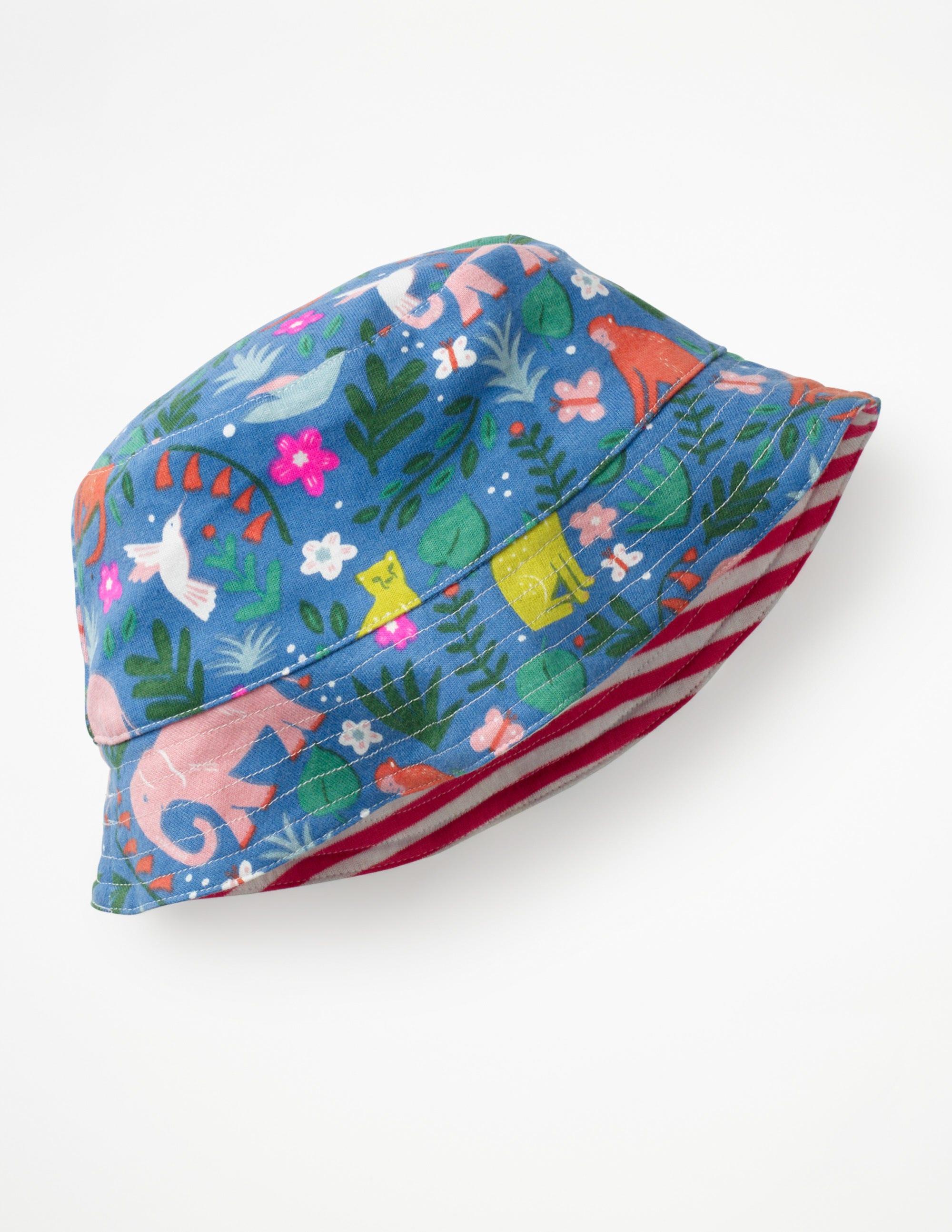 Chapeau réversible en jersey ANI Fille Boden, Multi