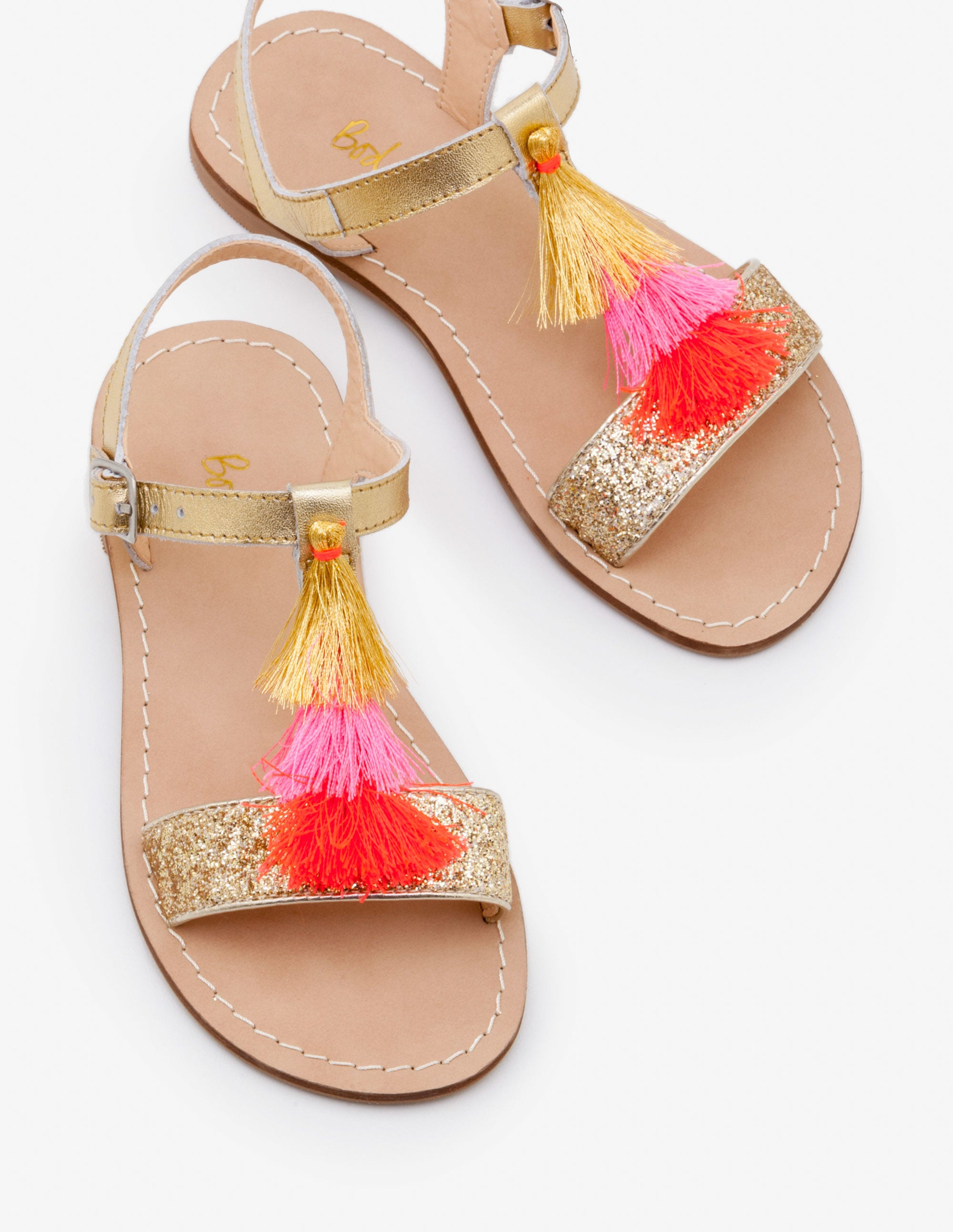 Tassel Sandals - Gold Metallic | Boden UK