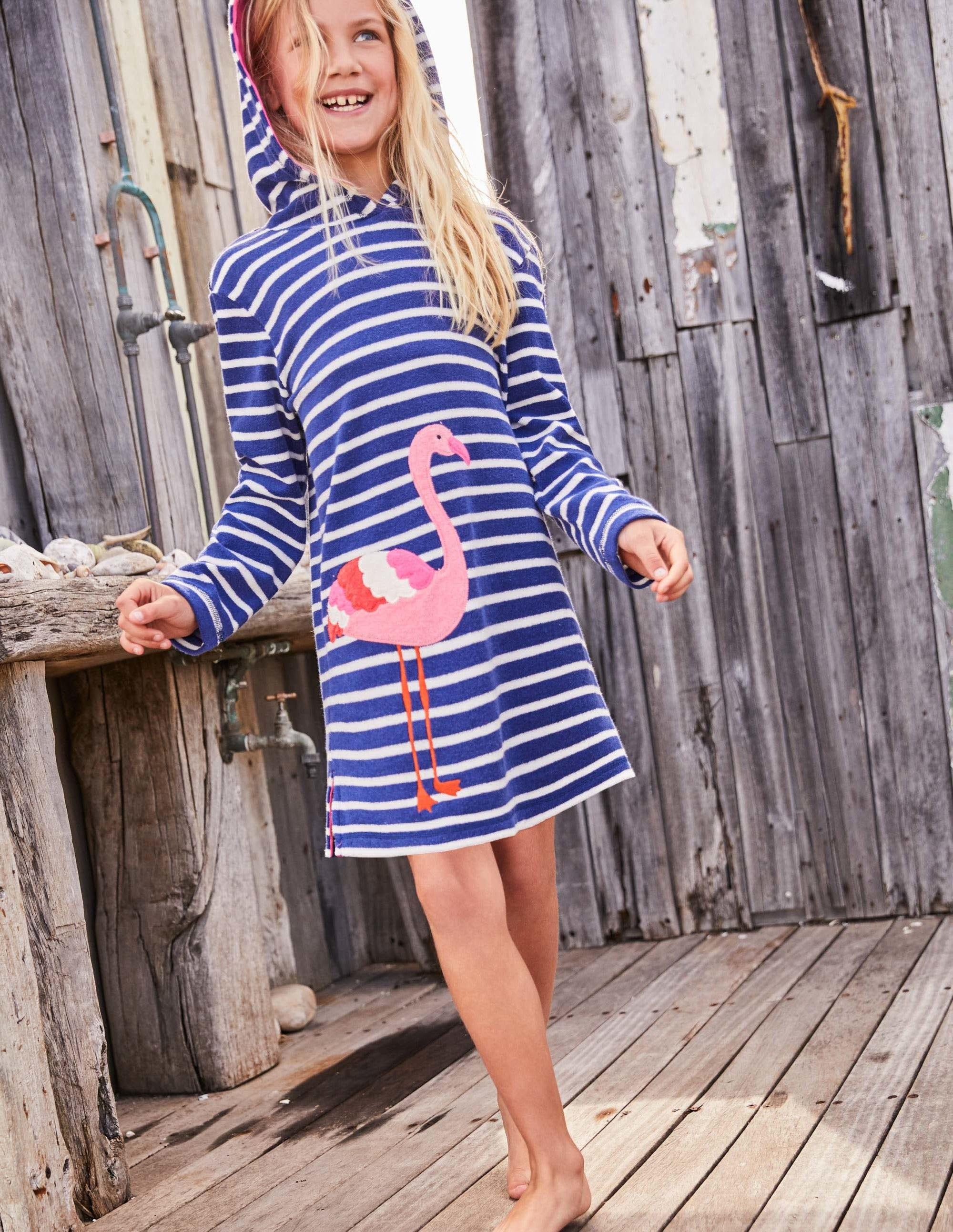 867cca35349ec Fun Towelling Beach Dress Ivory Mermaid Stripe Boden Us