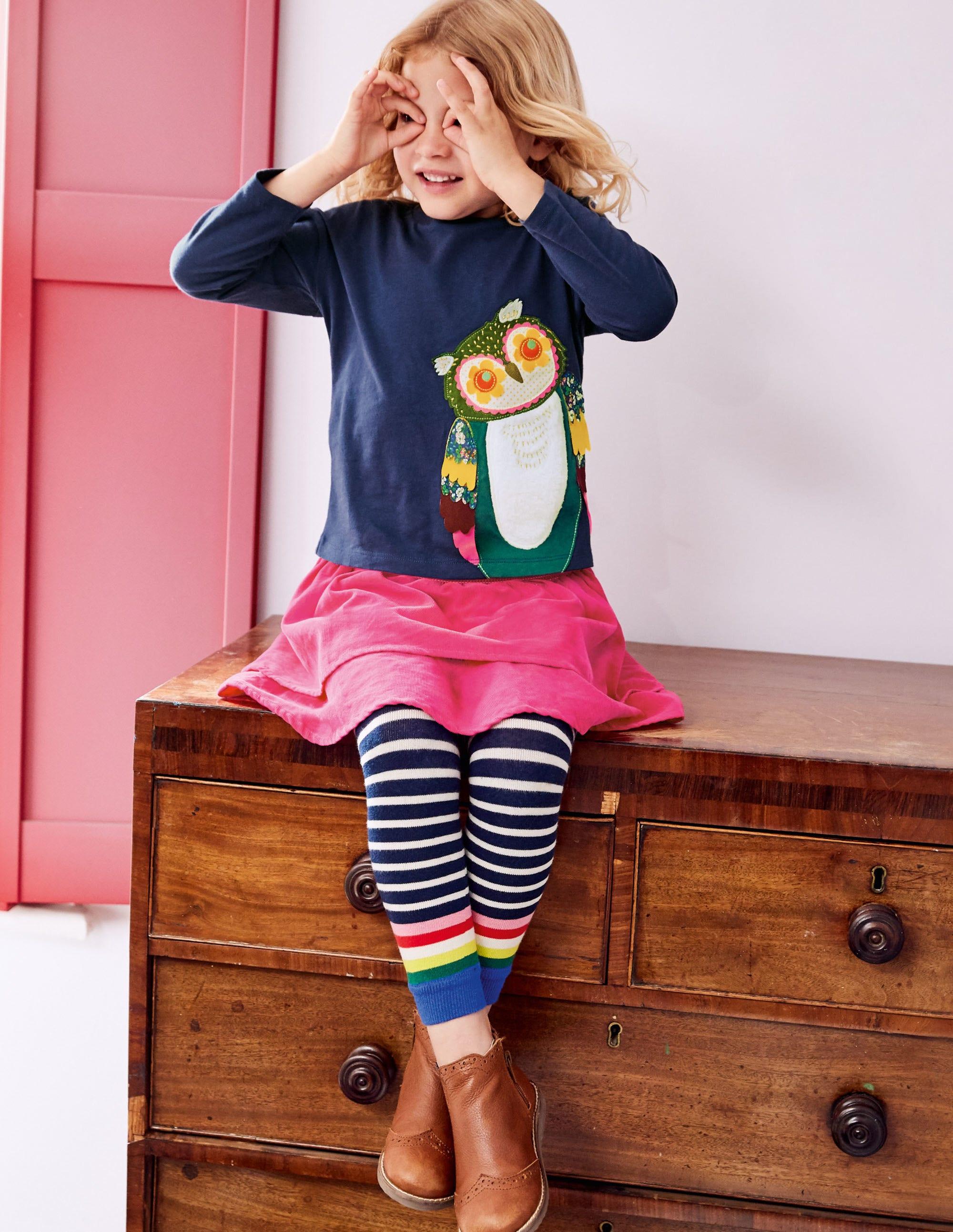 Mini Boden Applique Short Sleeve Pretty T Shirt 1-10 Yrs