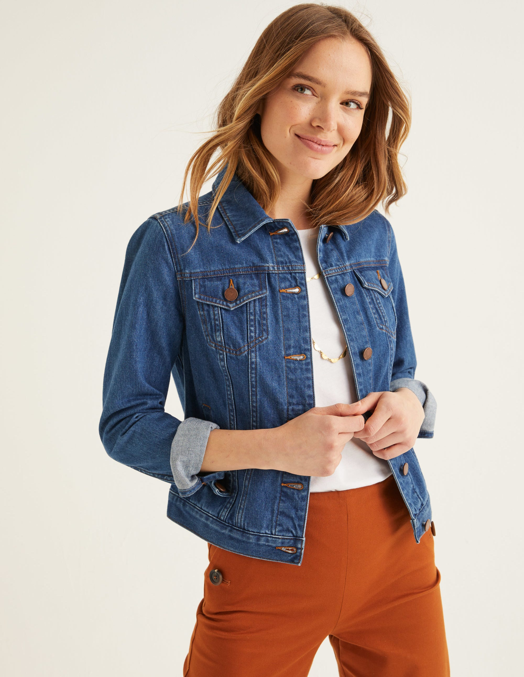 f6a9b22a7ee39 Classic Denim Jacket - Vintage | Boden UK
