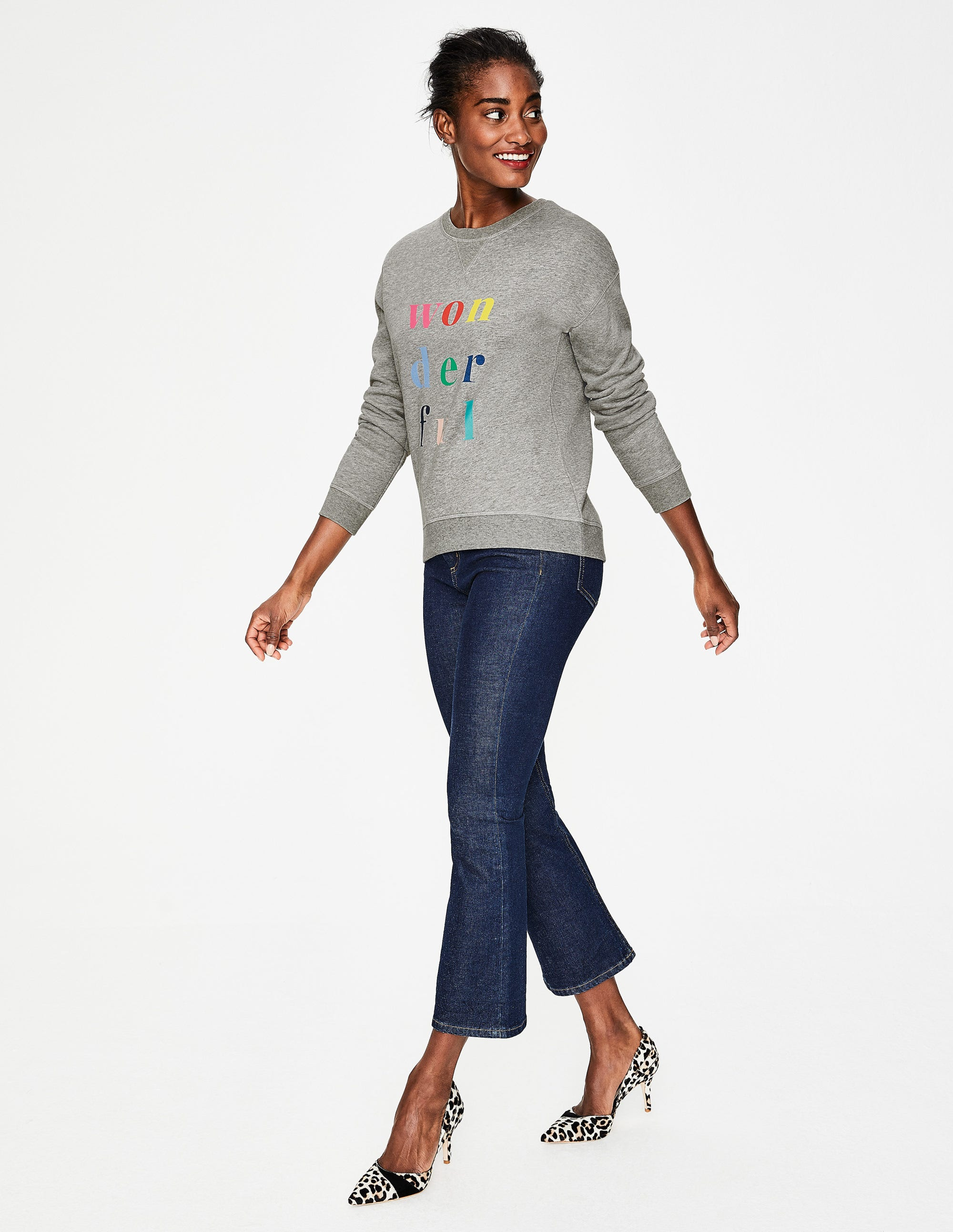 9cf395919be Arabella Sweatshirt - Large Flock Spot | Boden US