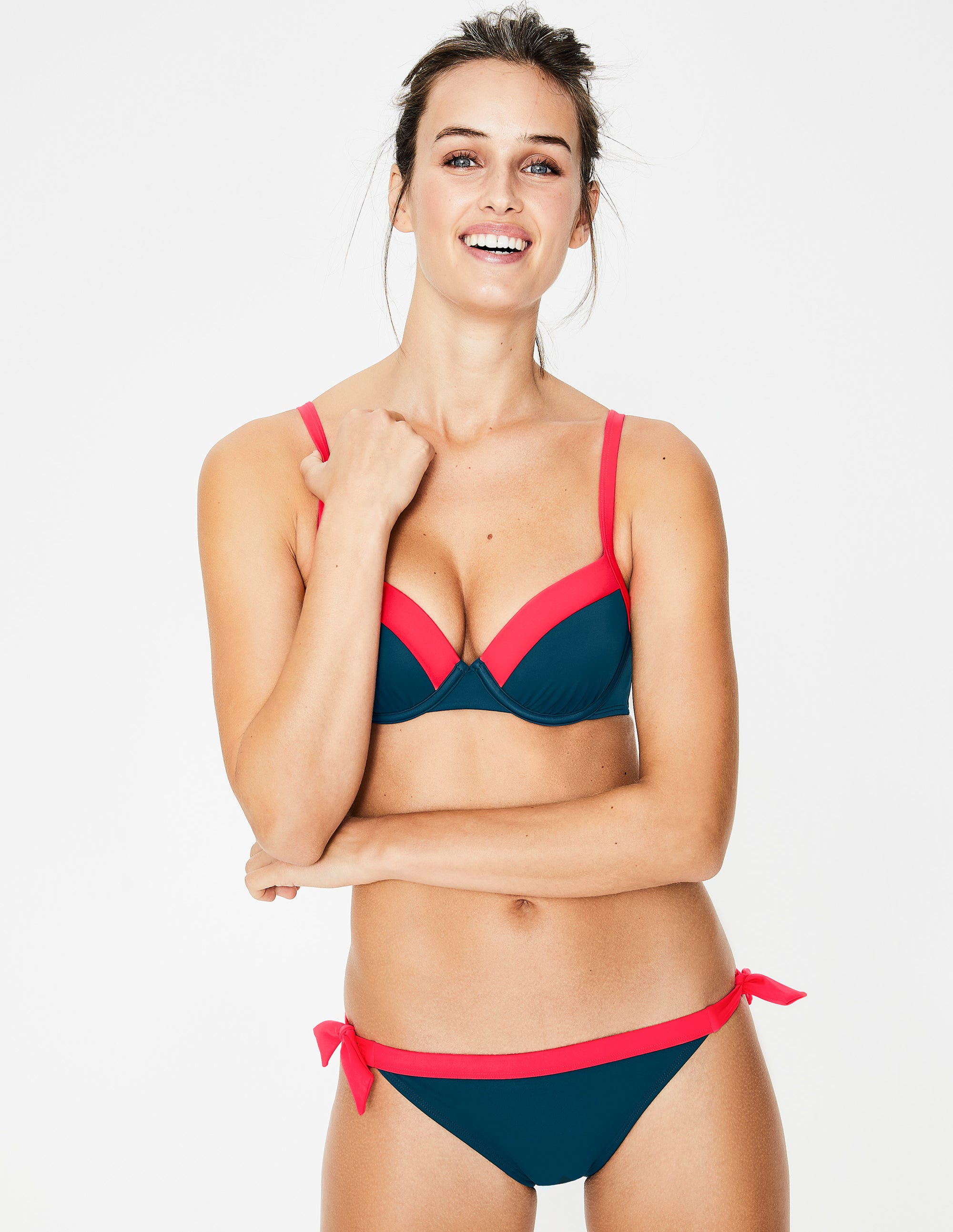 Haut de bikini à bonnets Milos TUR Femme Boden, Blue