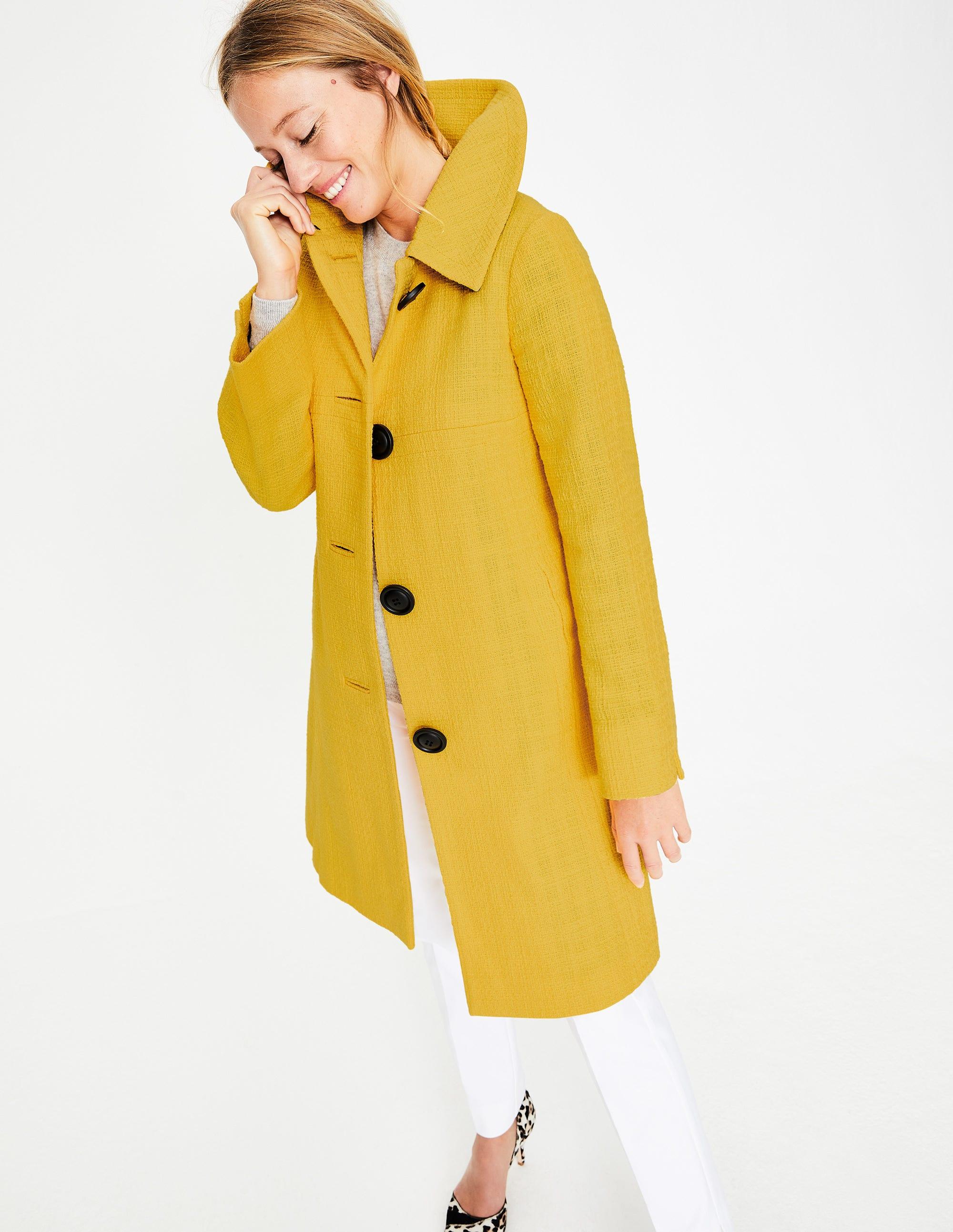 Manteau coupe trapèze rétro YEL Femme Boden, Yellow