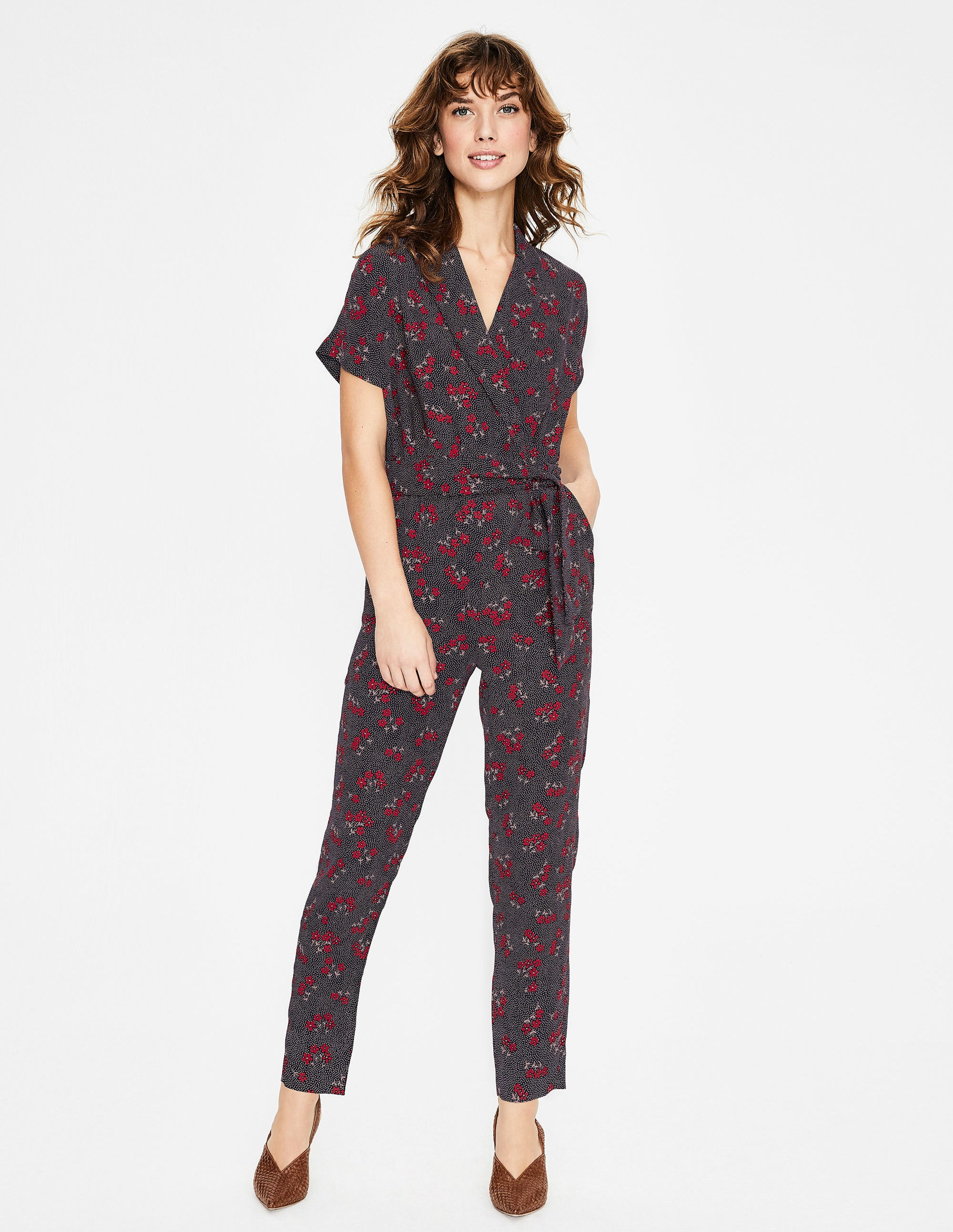 3a1e59aab51 Frederica Jumpsuit - Navy and Red, Daisy Field | Boden UK