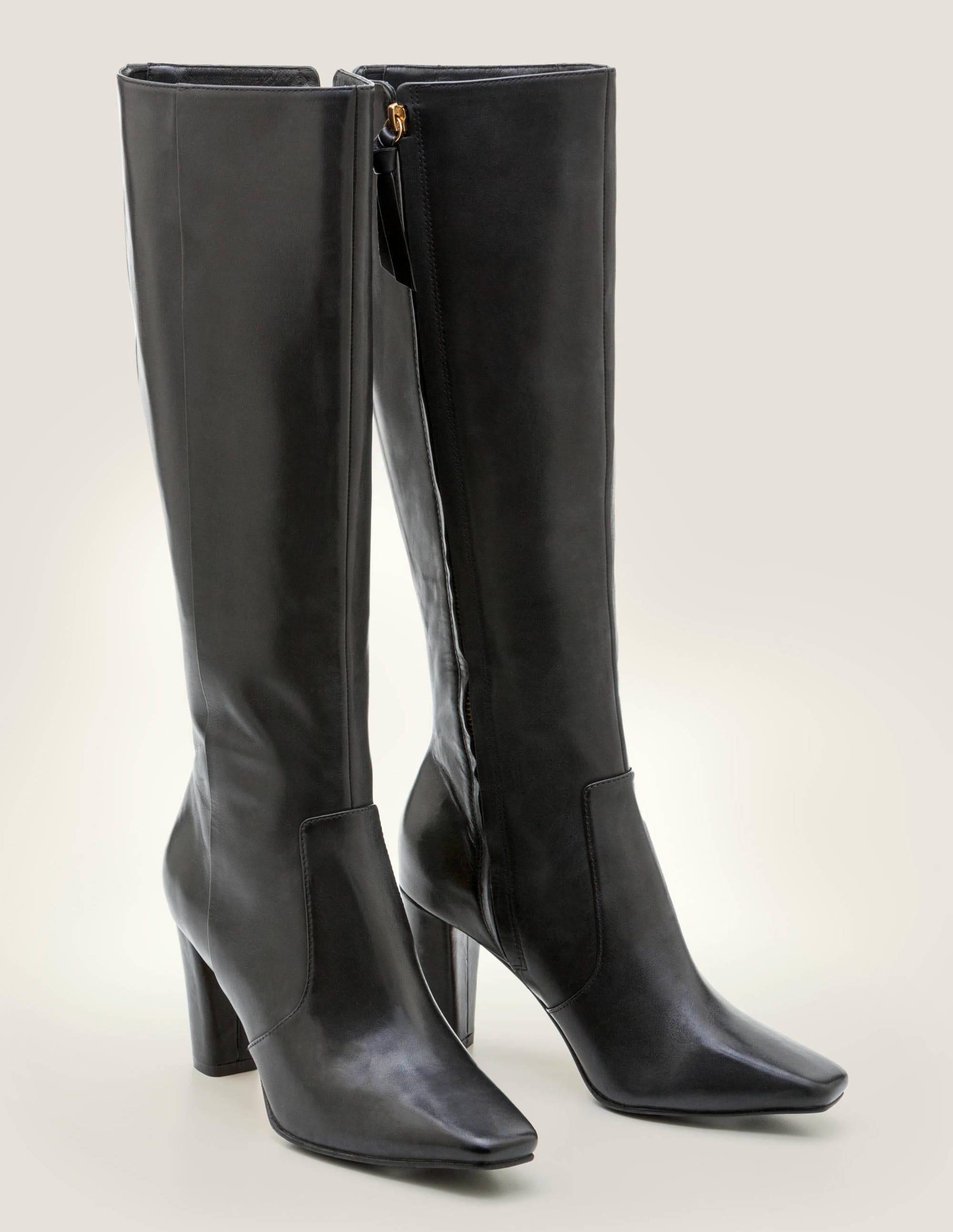Waveney Knee High Boots - Black | Boden UK