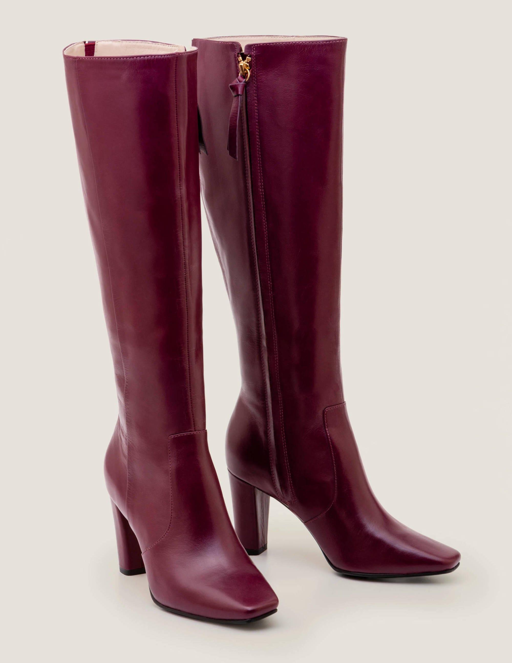 Bottes hauteur genou Waveney DPR Femme Boden, Purple