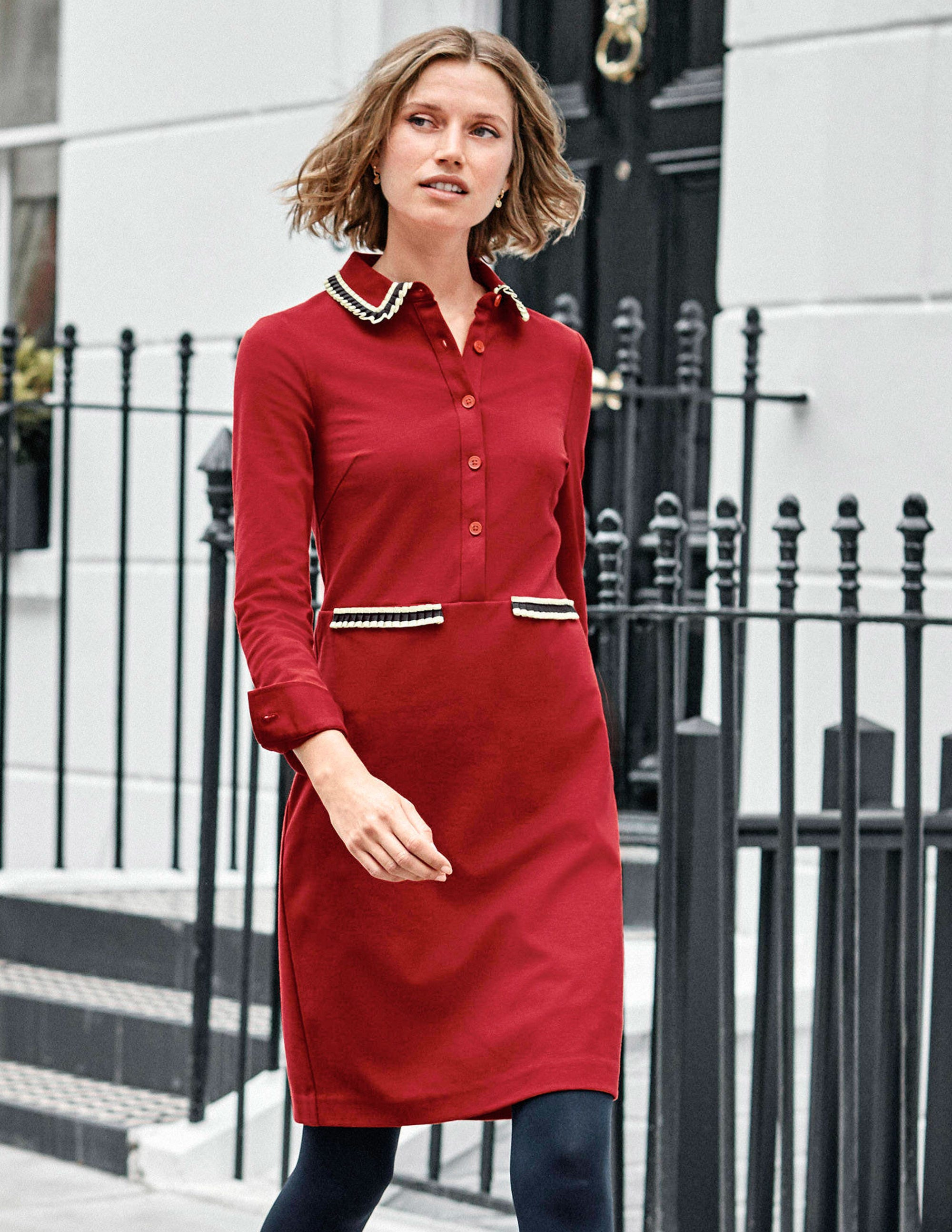 Boden Amber Ponte Dress - Poinsettia