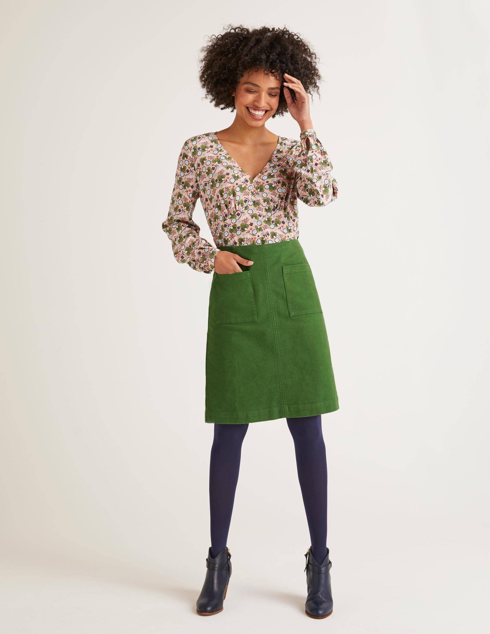 Boden Bay Mini Skirt - Broad Bean