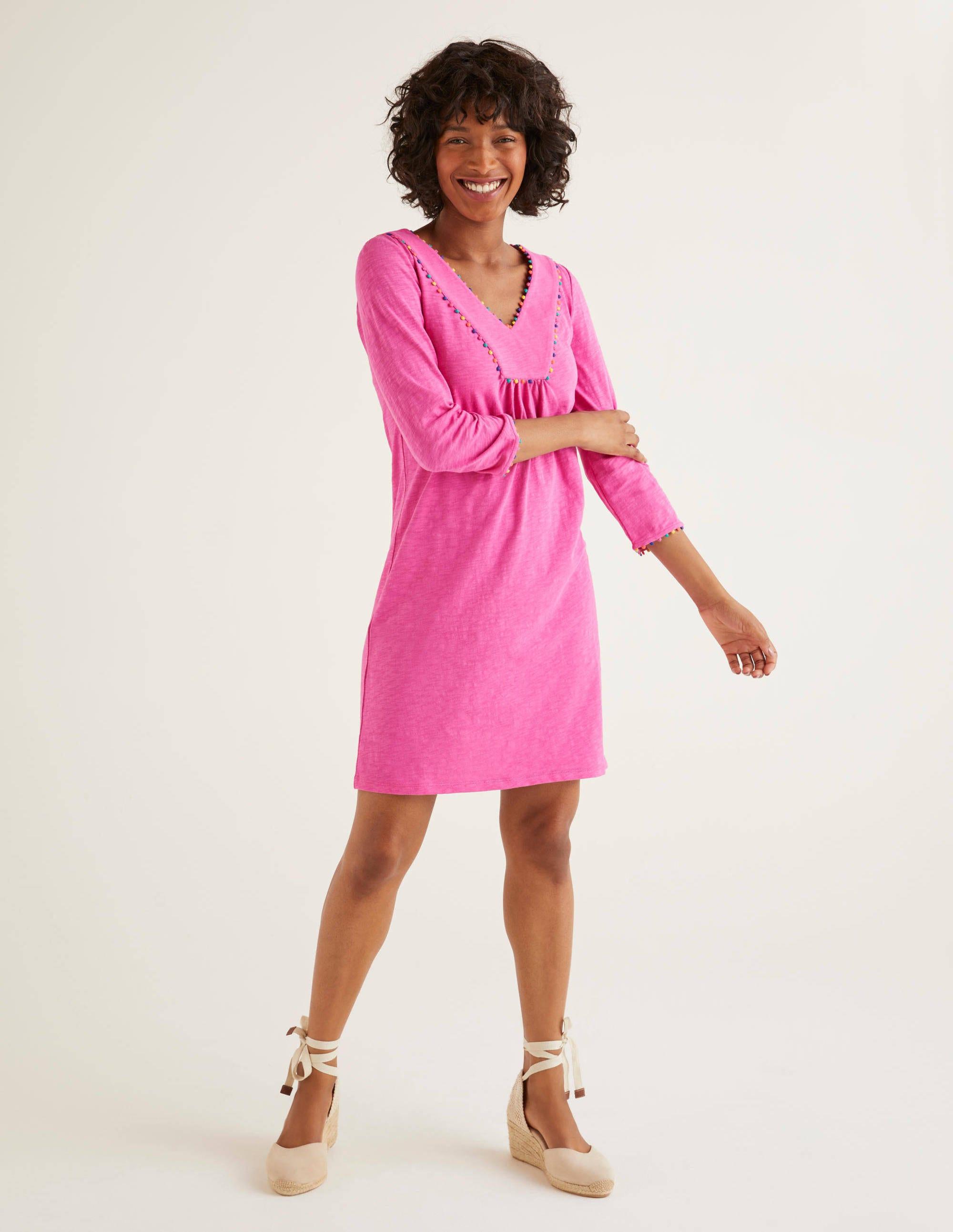 Tunique Charlie en jersey NPK Femme Boden, Pink