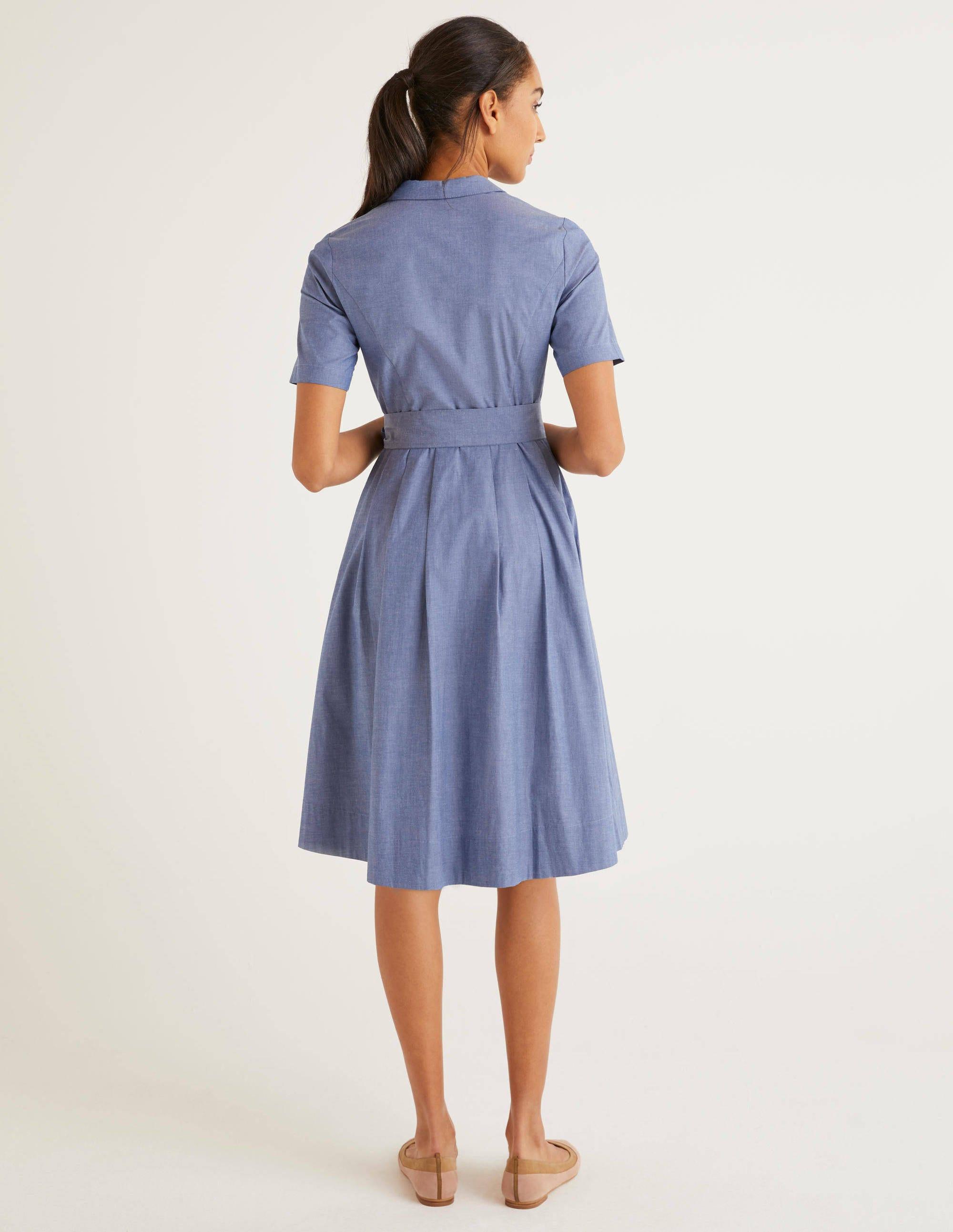 Anastasia Shirt Dress Light Chambray