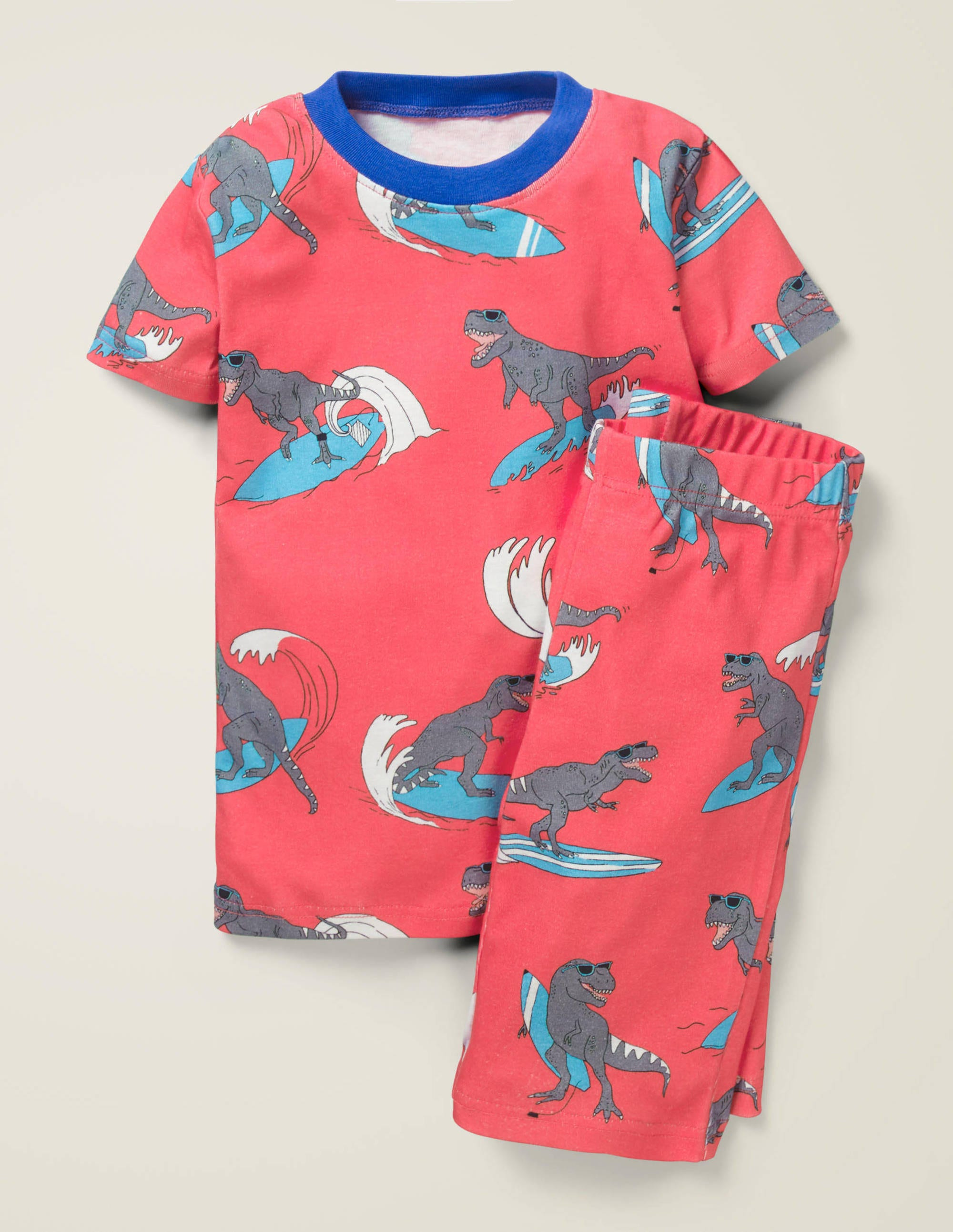 Pyjama court cosy RED Fille Boden, Red