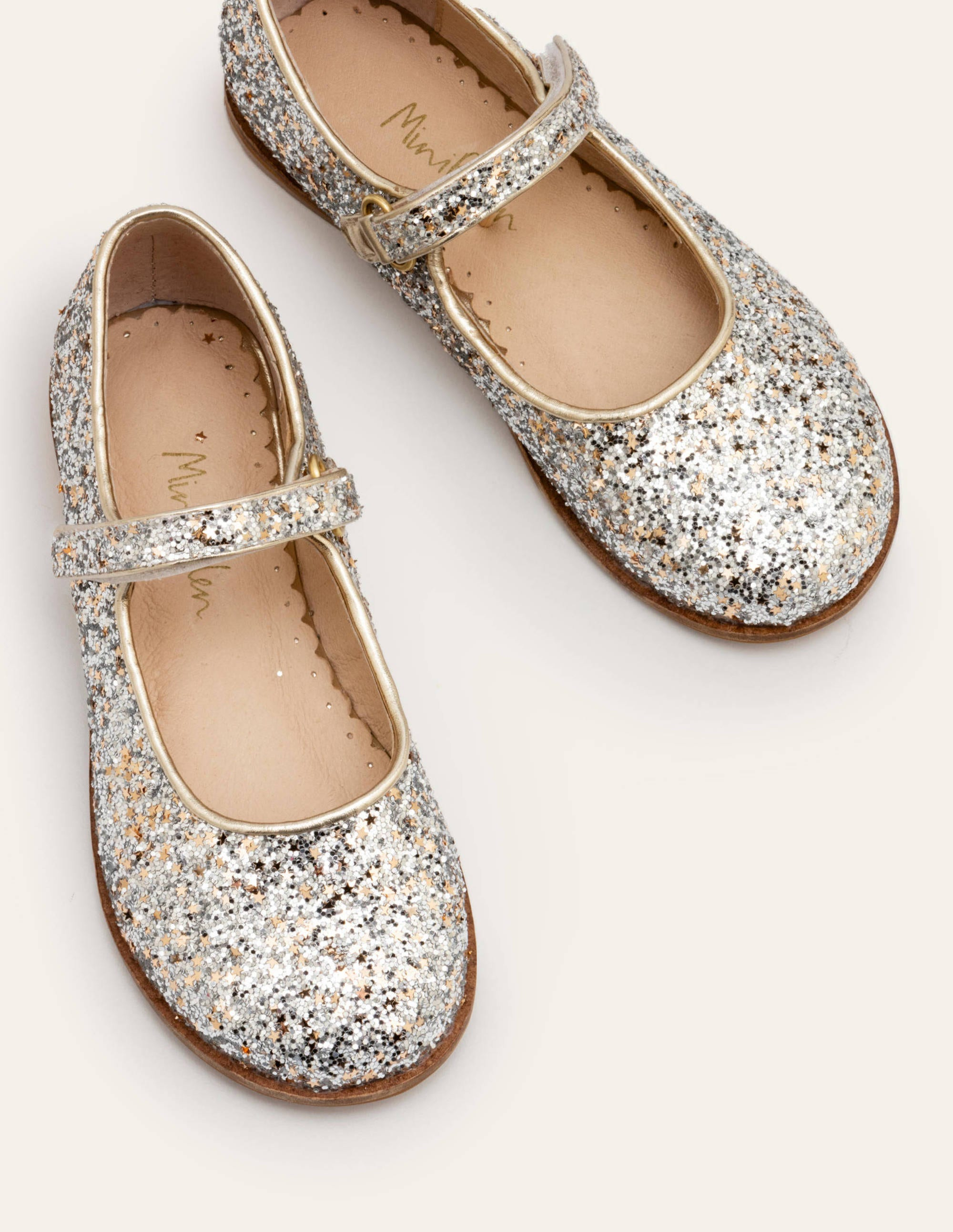 Sparkle Mary Janes - Silver Gold