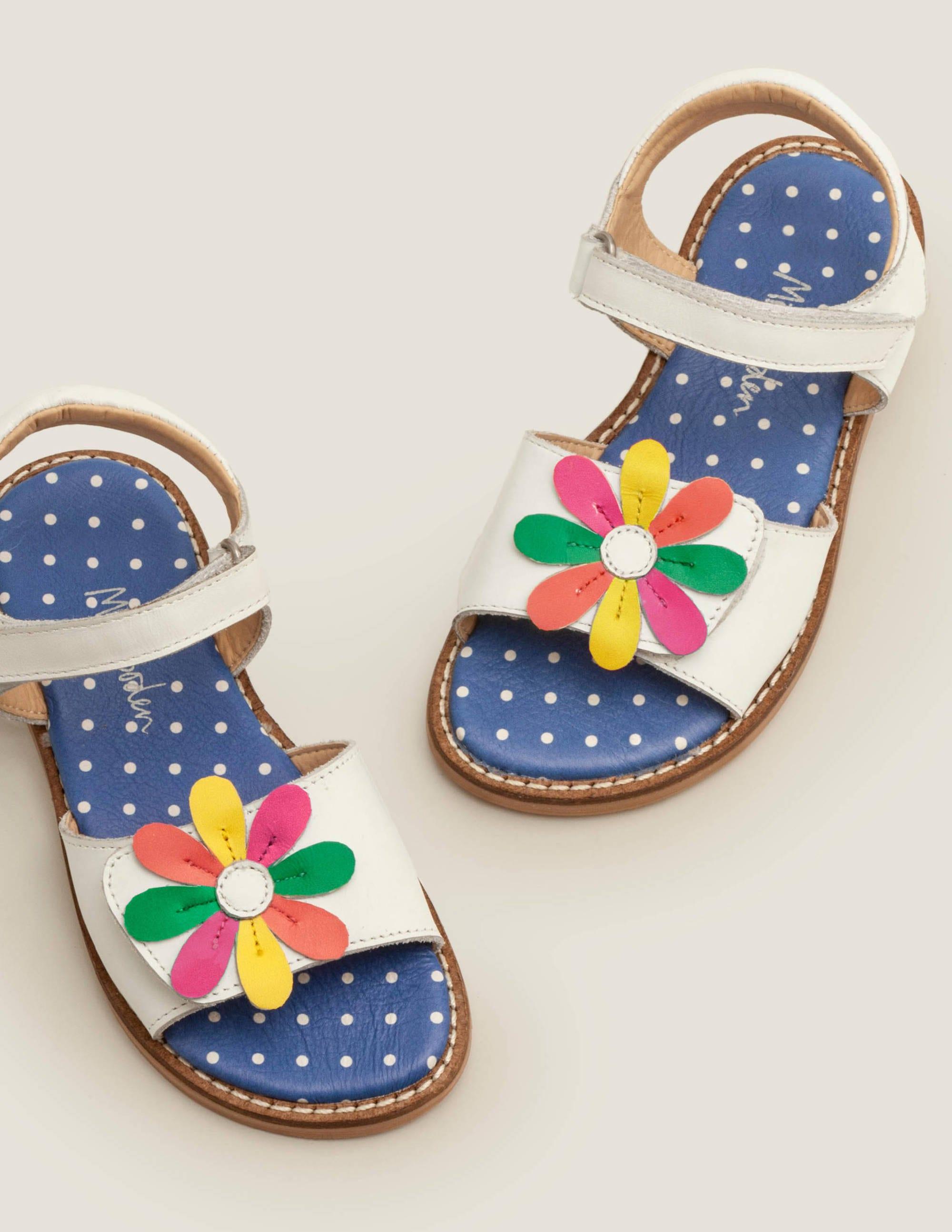 Leather Padded Sandals - Multi Glitter