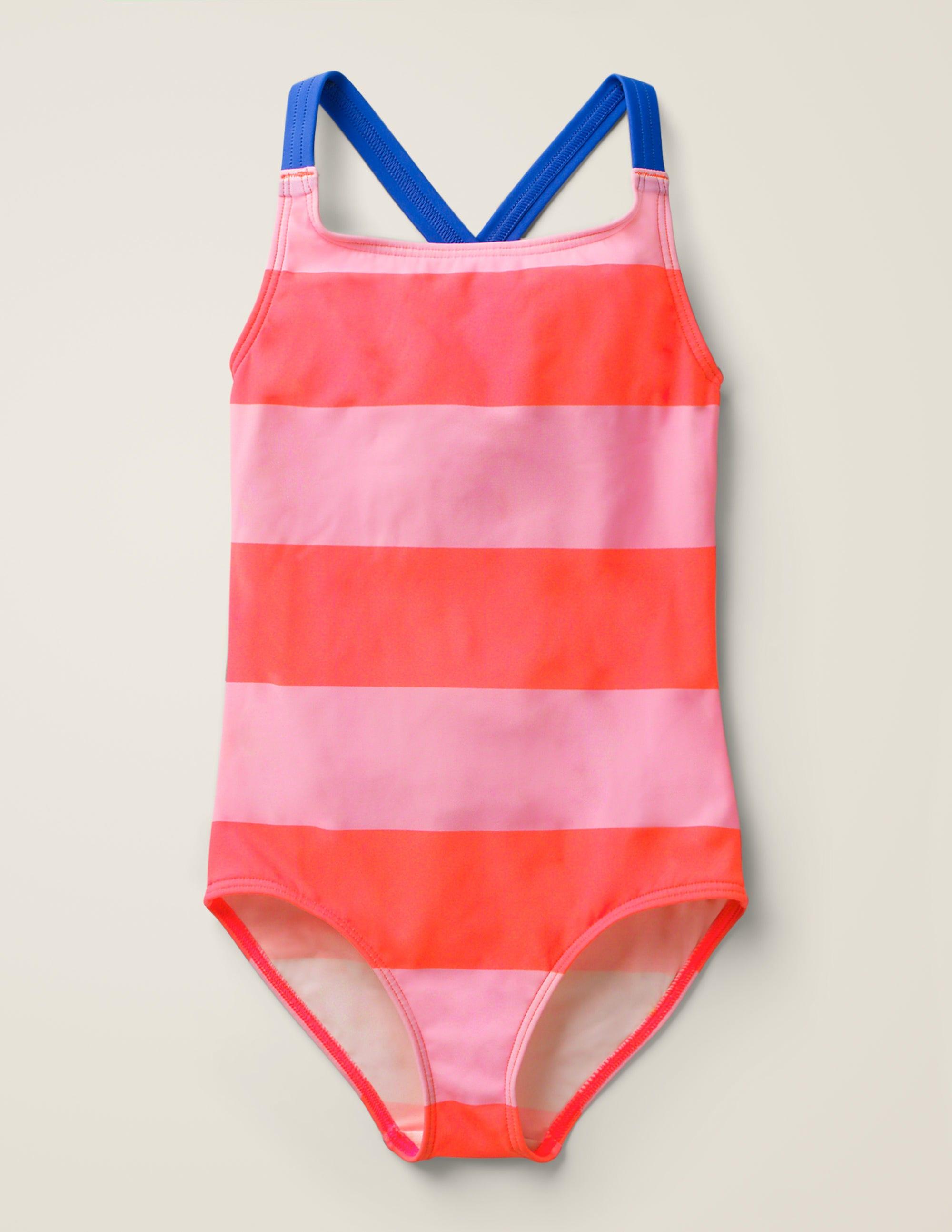 Maillot de bain croisé dans le dos PNK Femme Boden, Pink