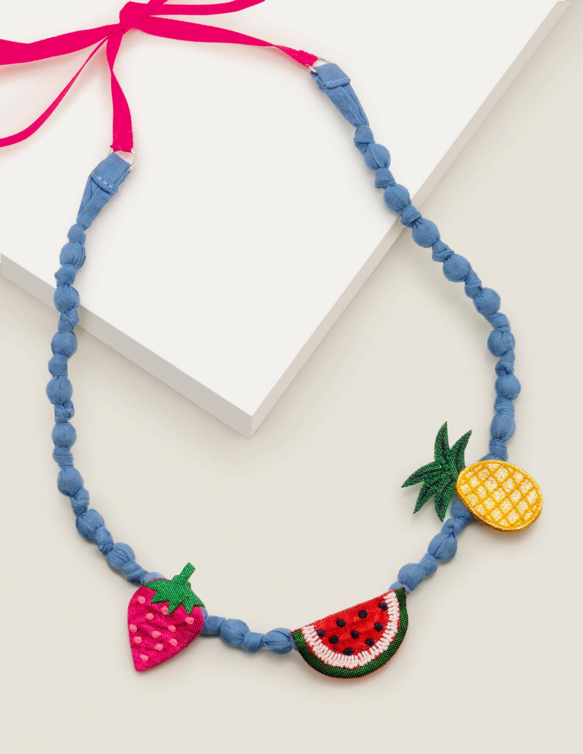 Fabric Necklace Multi Fruit Boden Eu