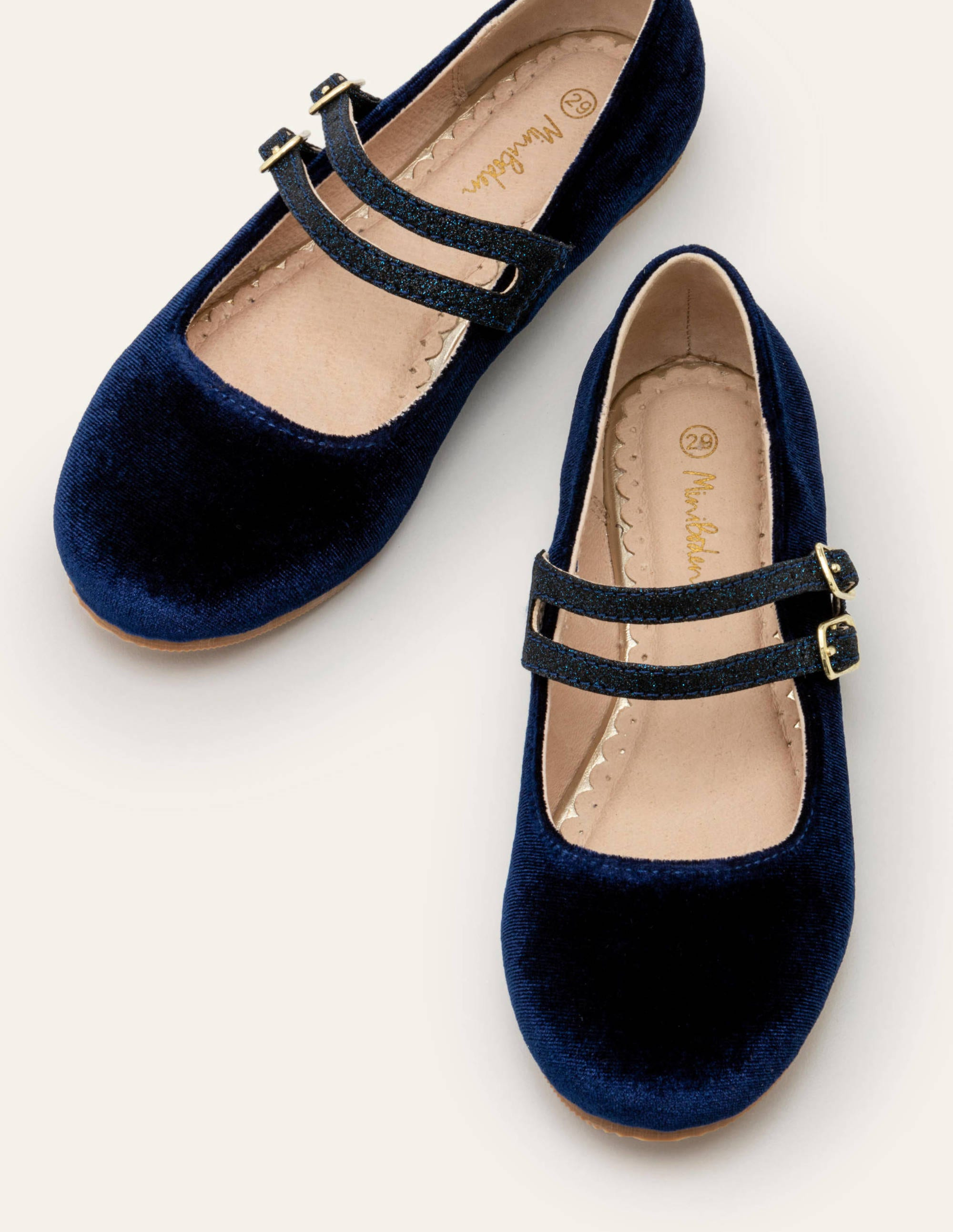 Double Strap Shoes - College Navy