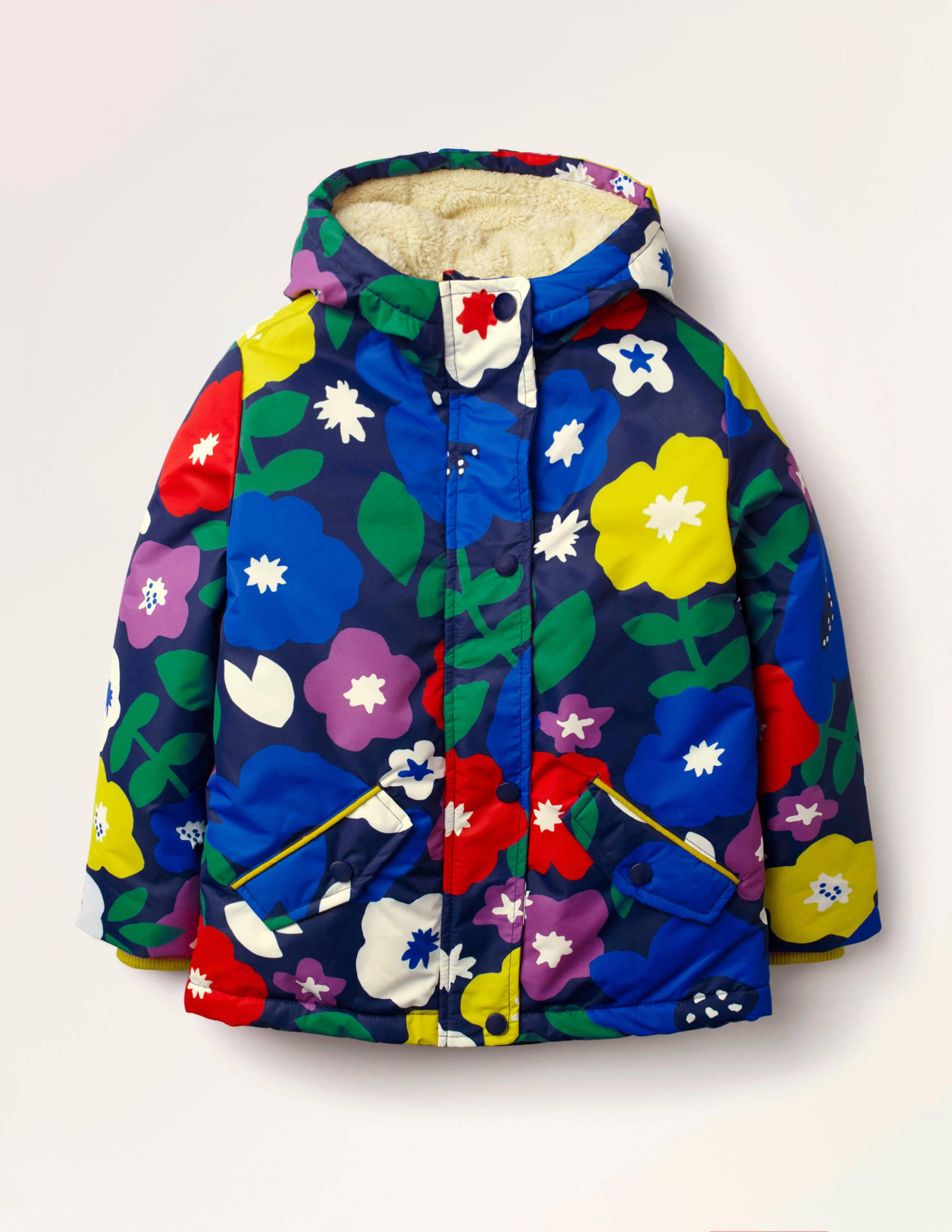 Anorak à doublure sherpa NVY Fille Boden, Navy