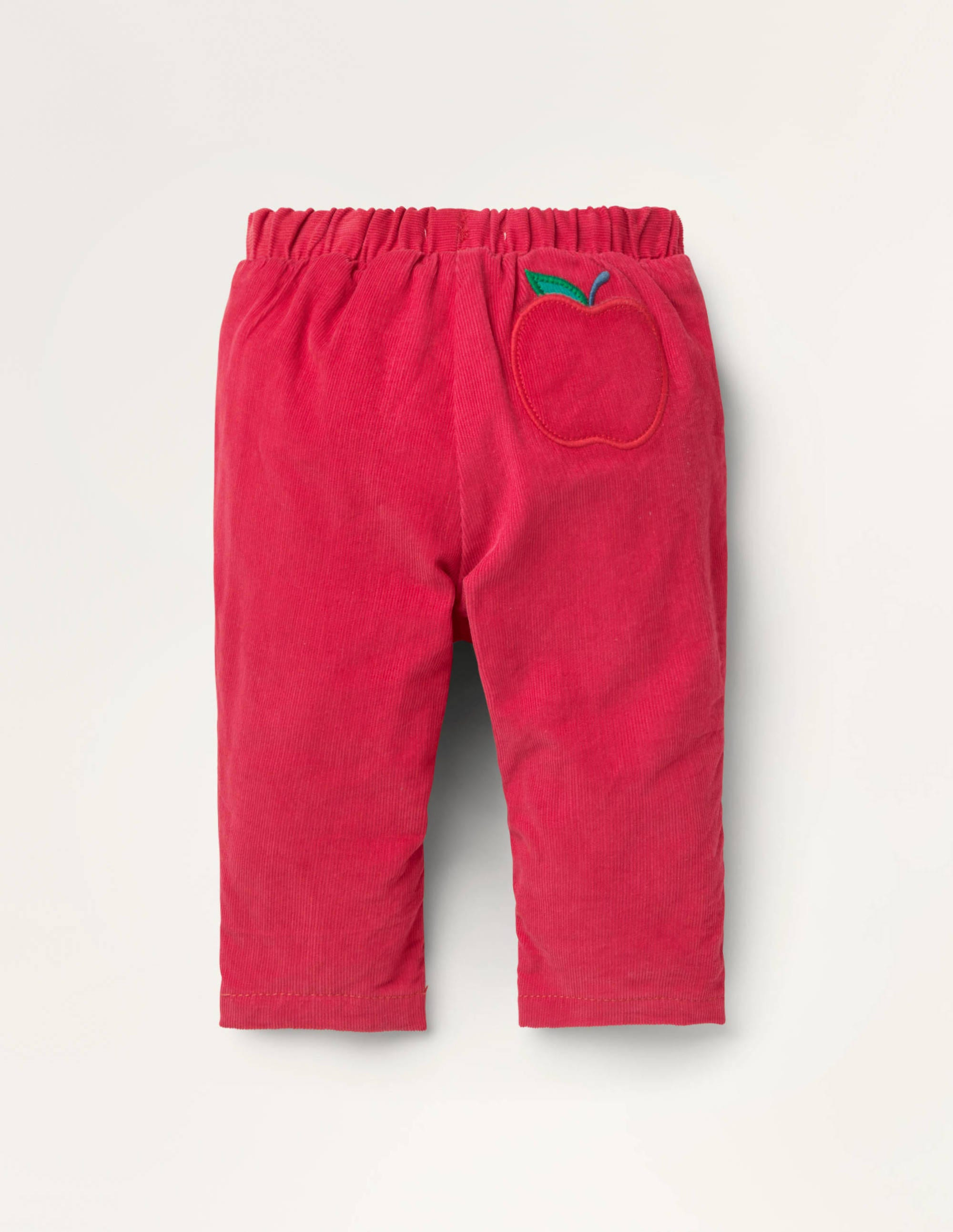 Boden Jersey-lined Cord Pants - Cherry Tomato Red Apples