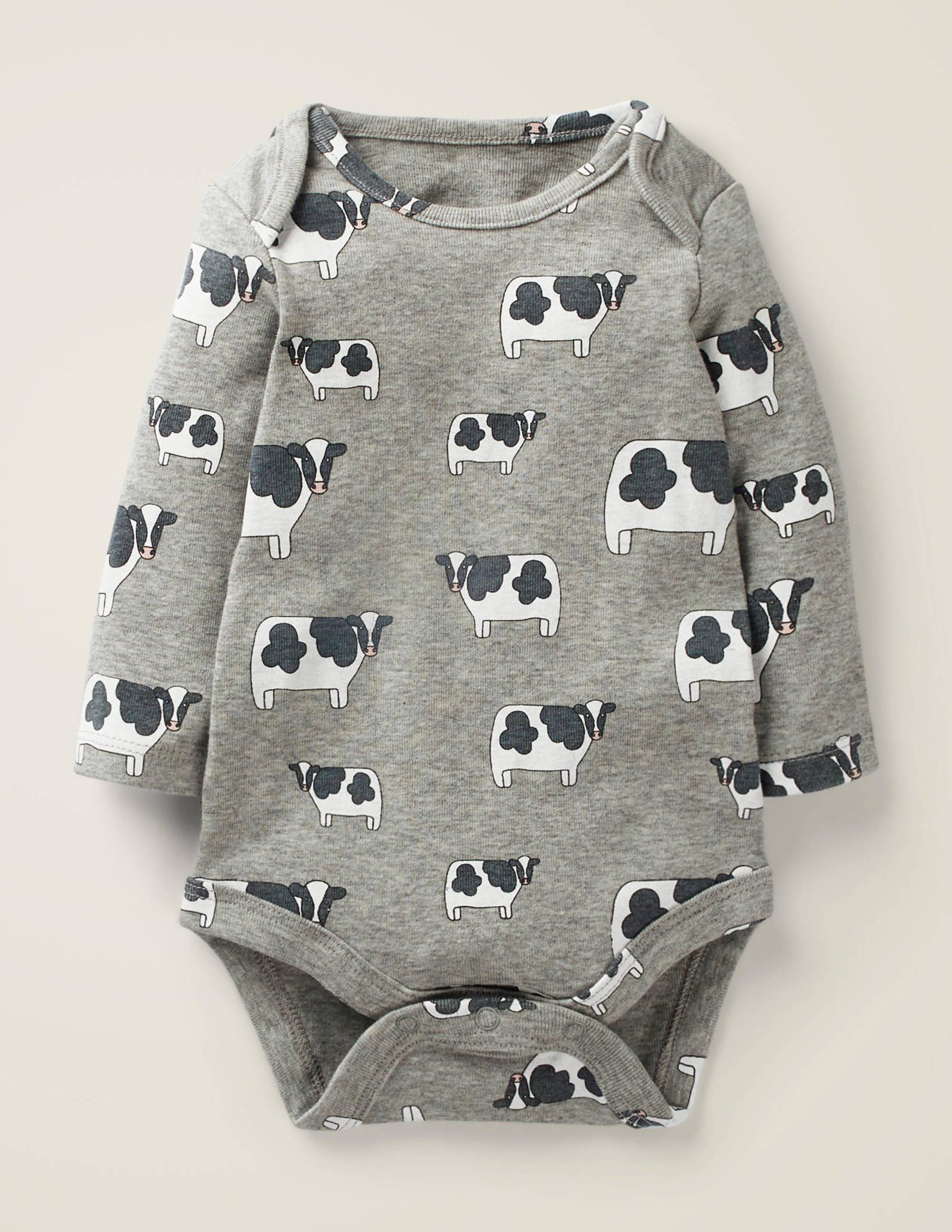 Body à motif animal LGY Fille Boden, Grey