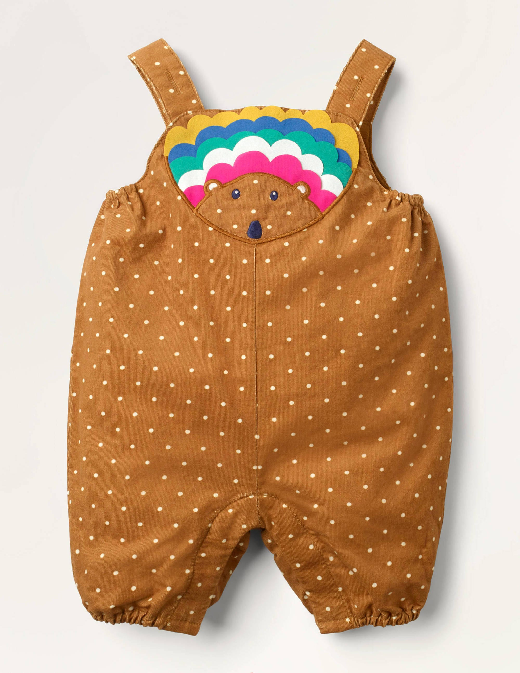 Boden Hedgehog Cord Overalls - Butterscotch Pin Spot