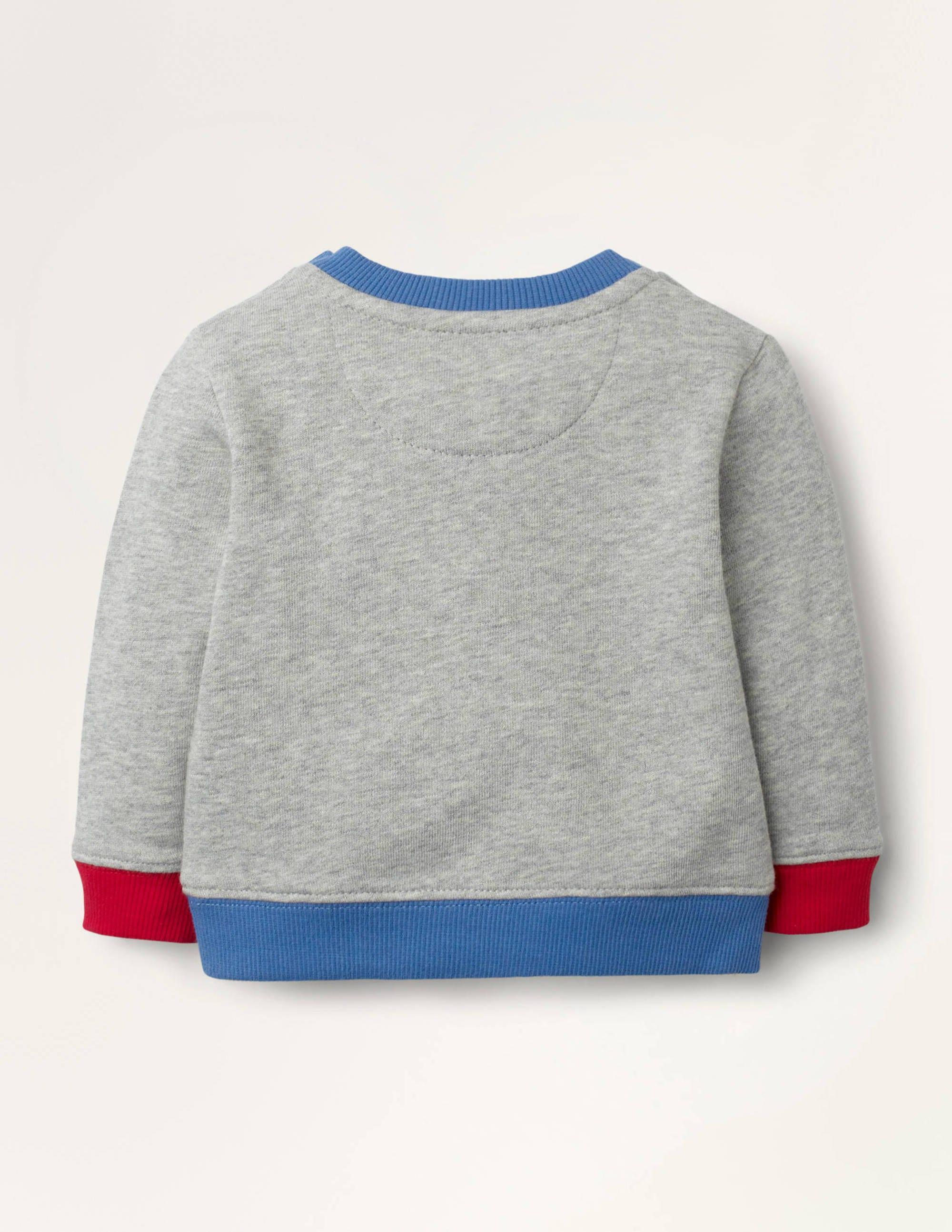 Sweatshirt Kleid Grau Meliert, Bouclé Punkte | Boden DE