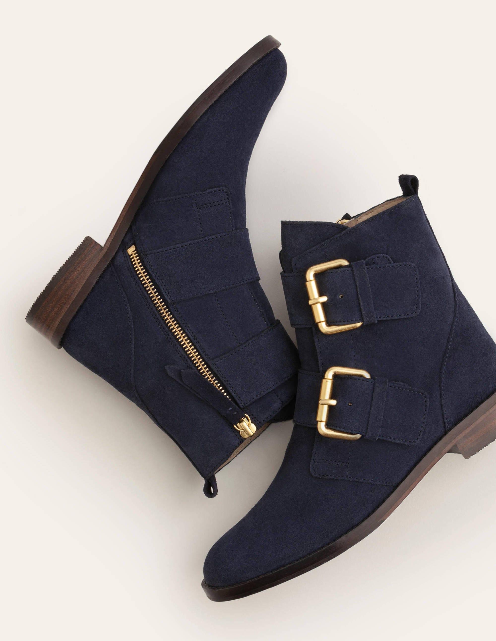 Cavenham Ankle Boots - Navy   Boden UK