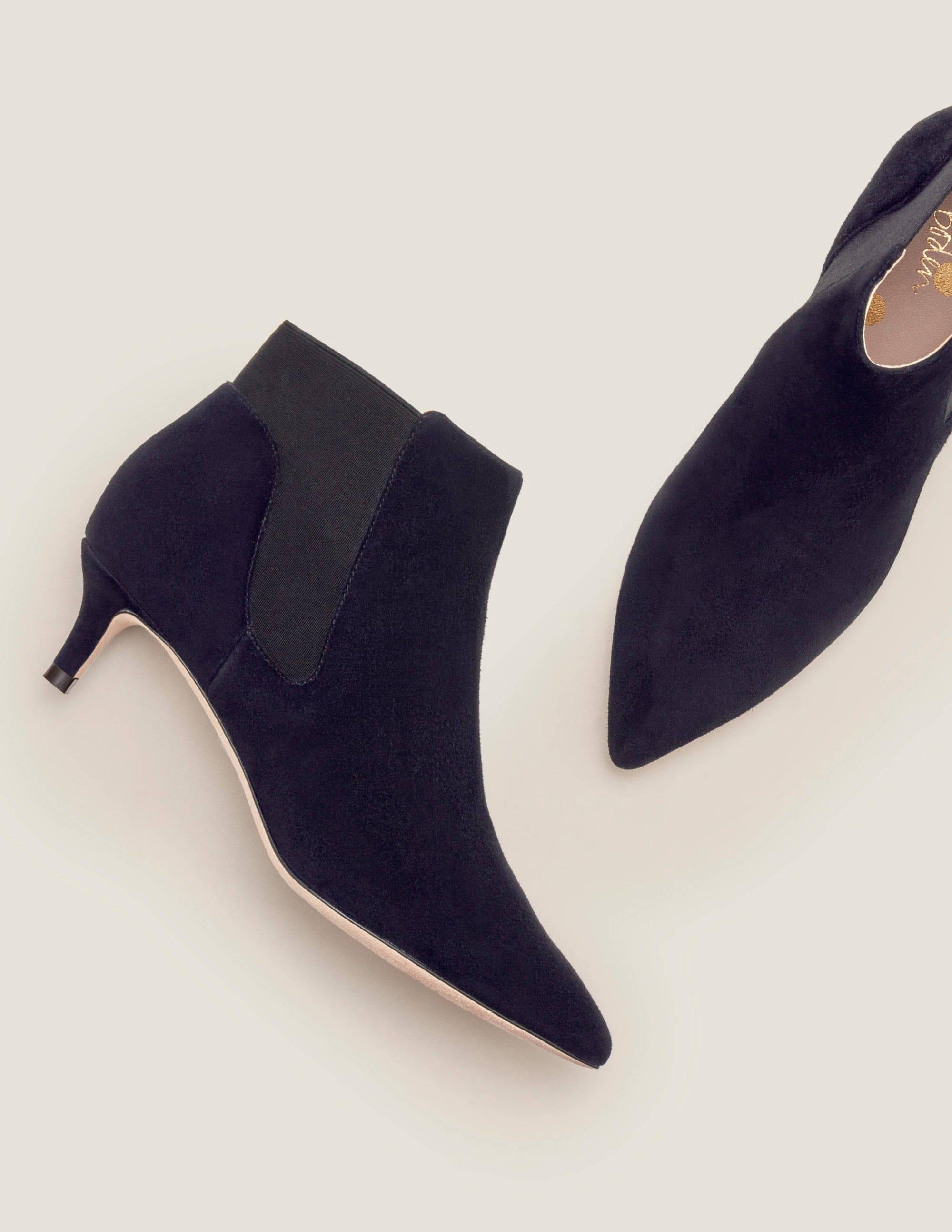 Elsworth Kitten Ankle Boots - Black