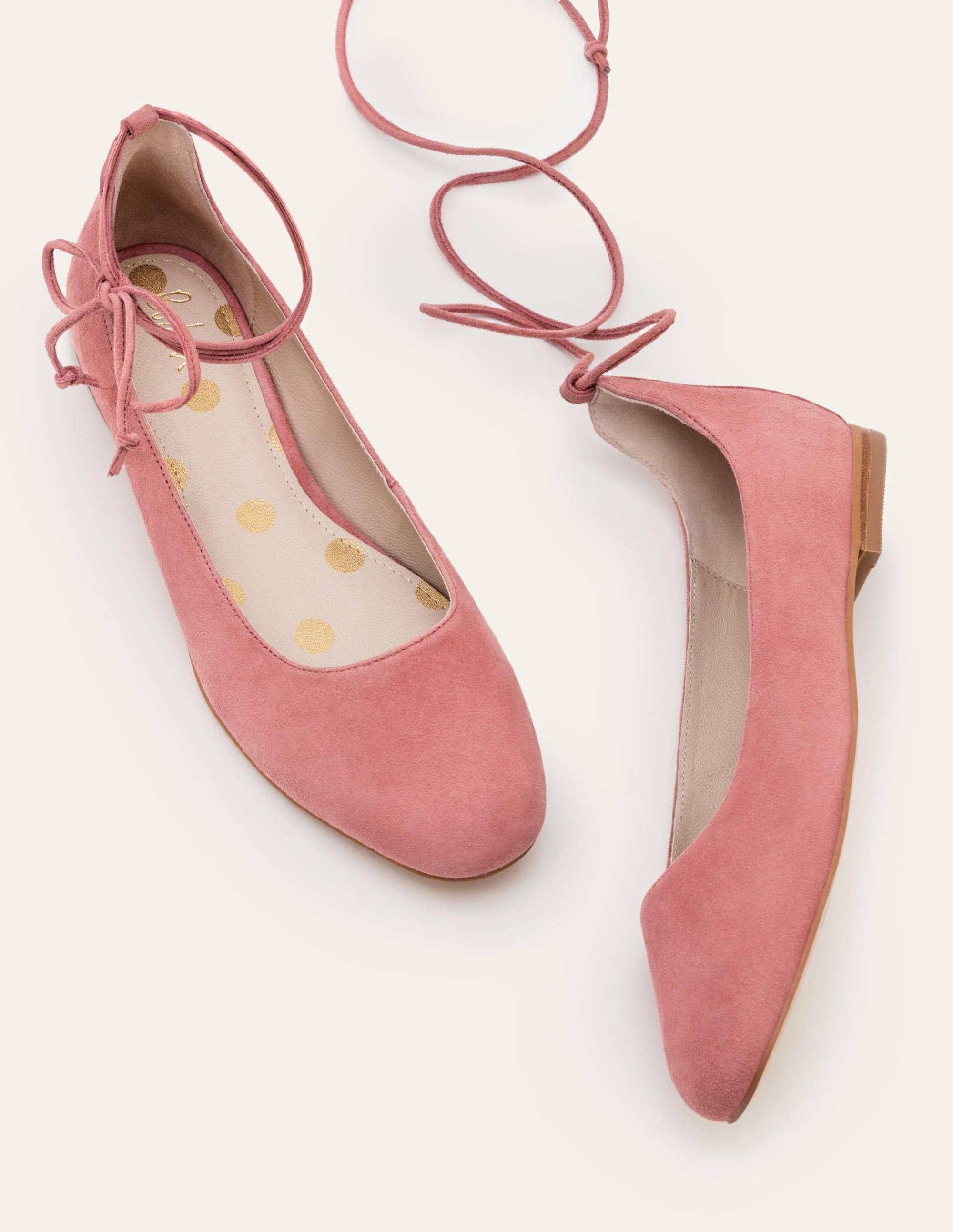 Effie Ballet Flats - Dusty Rose | Boden US