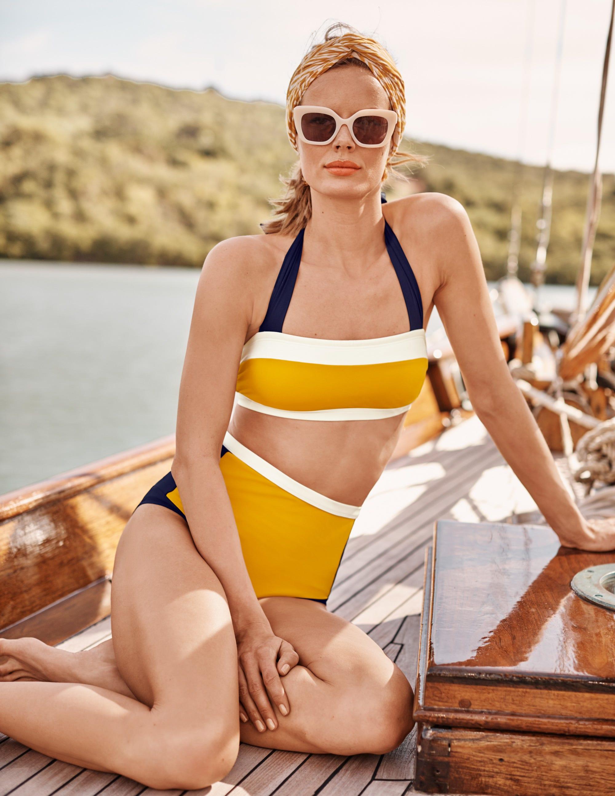 Boden Santorini Bikini Top - Ginger Colourblock