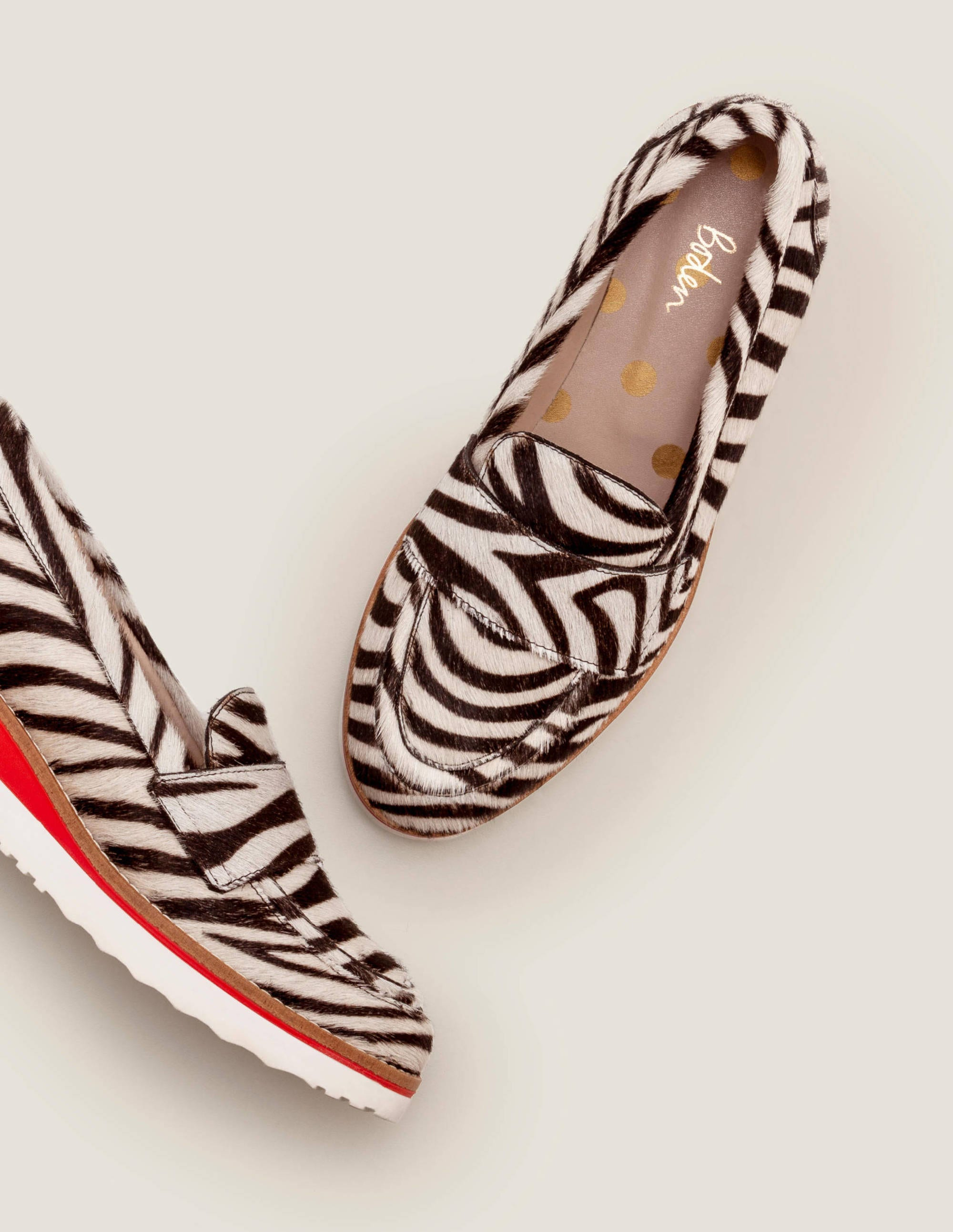 Boden girls GORGEOUS Flats Shoes Leopard Ponyskin Leather EU 36 UK 3 Brand new.