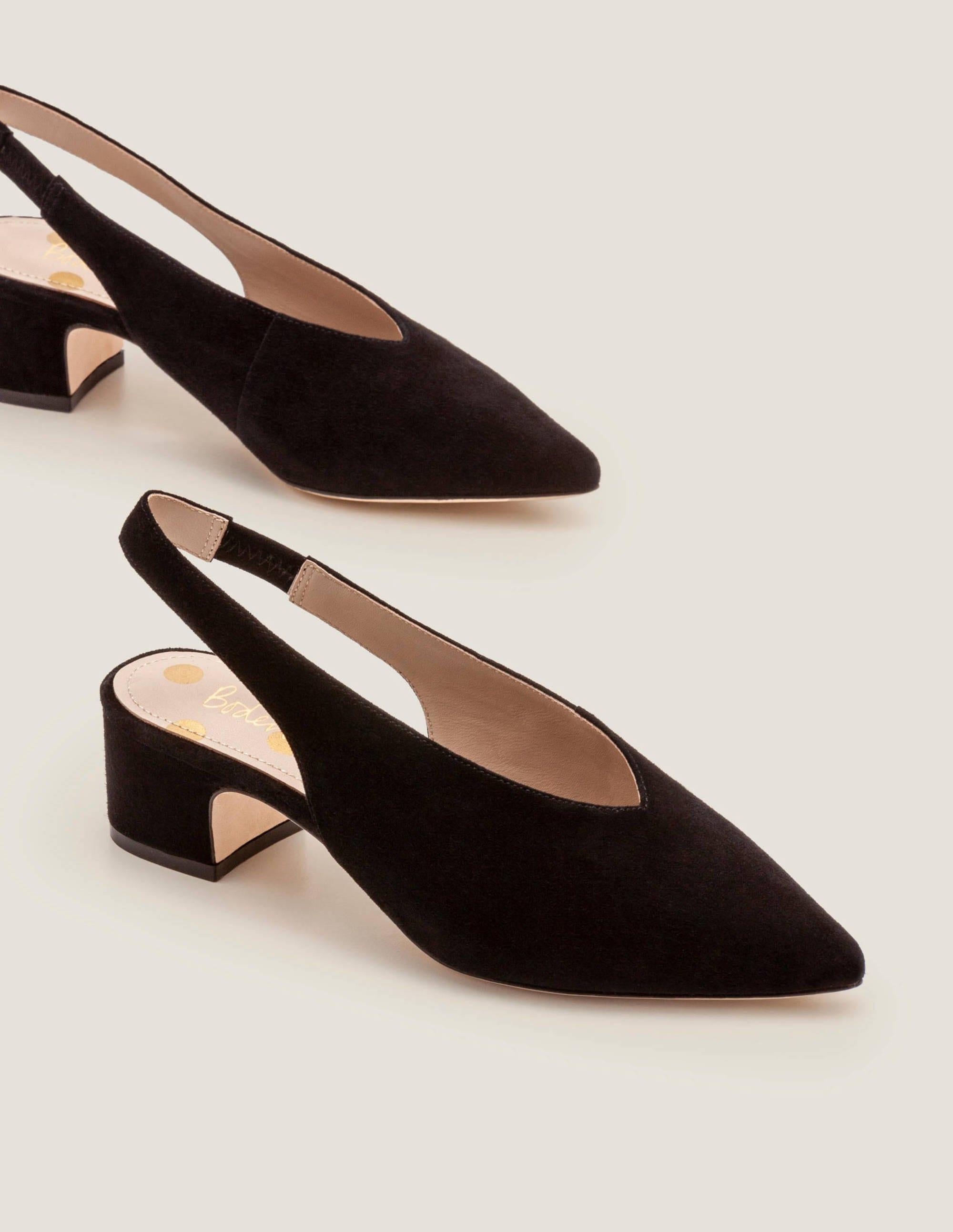 Lena Slingback Heels - Black | Boden US