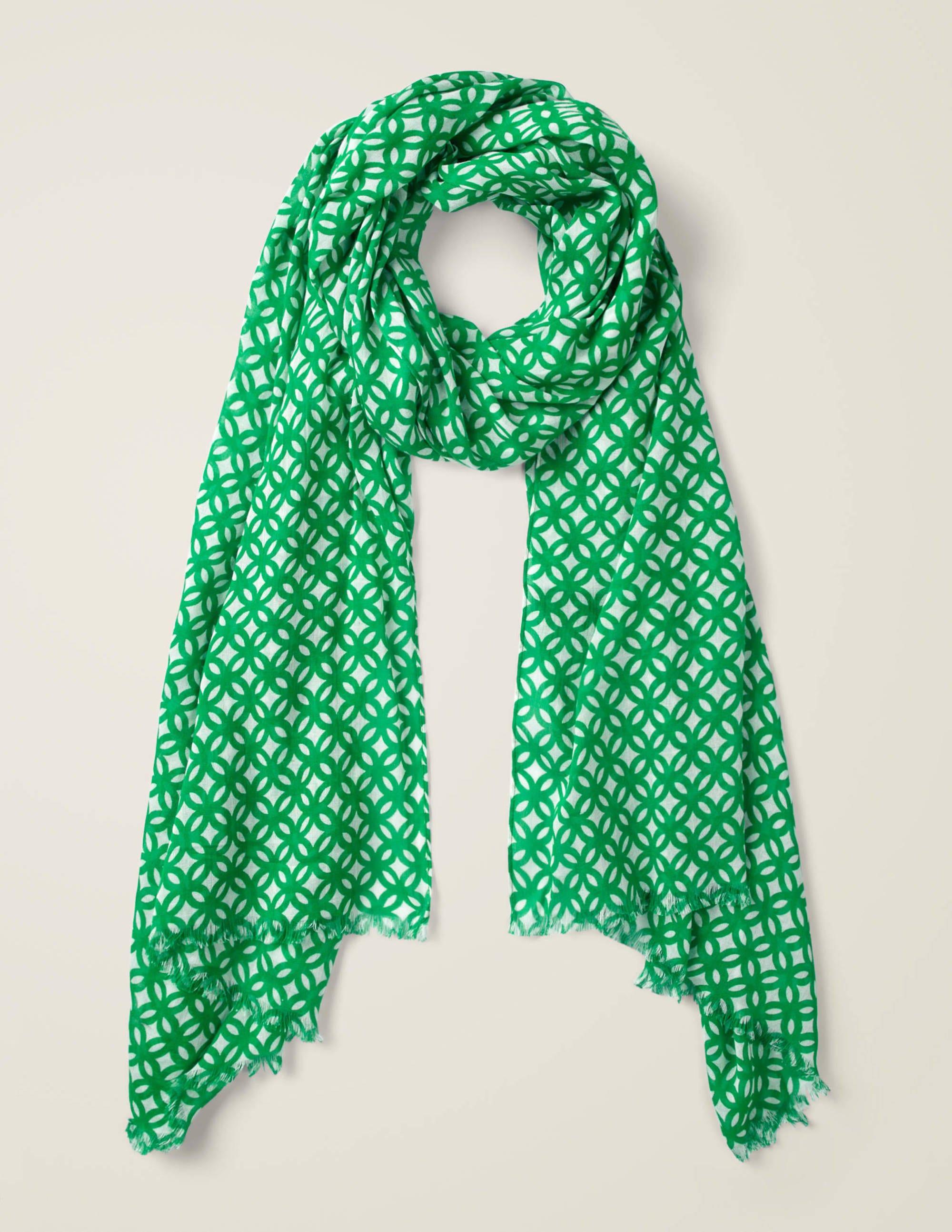 Foulard imprimé BGR Femme Boden, Green