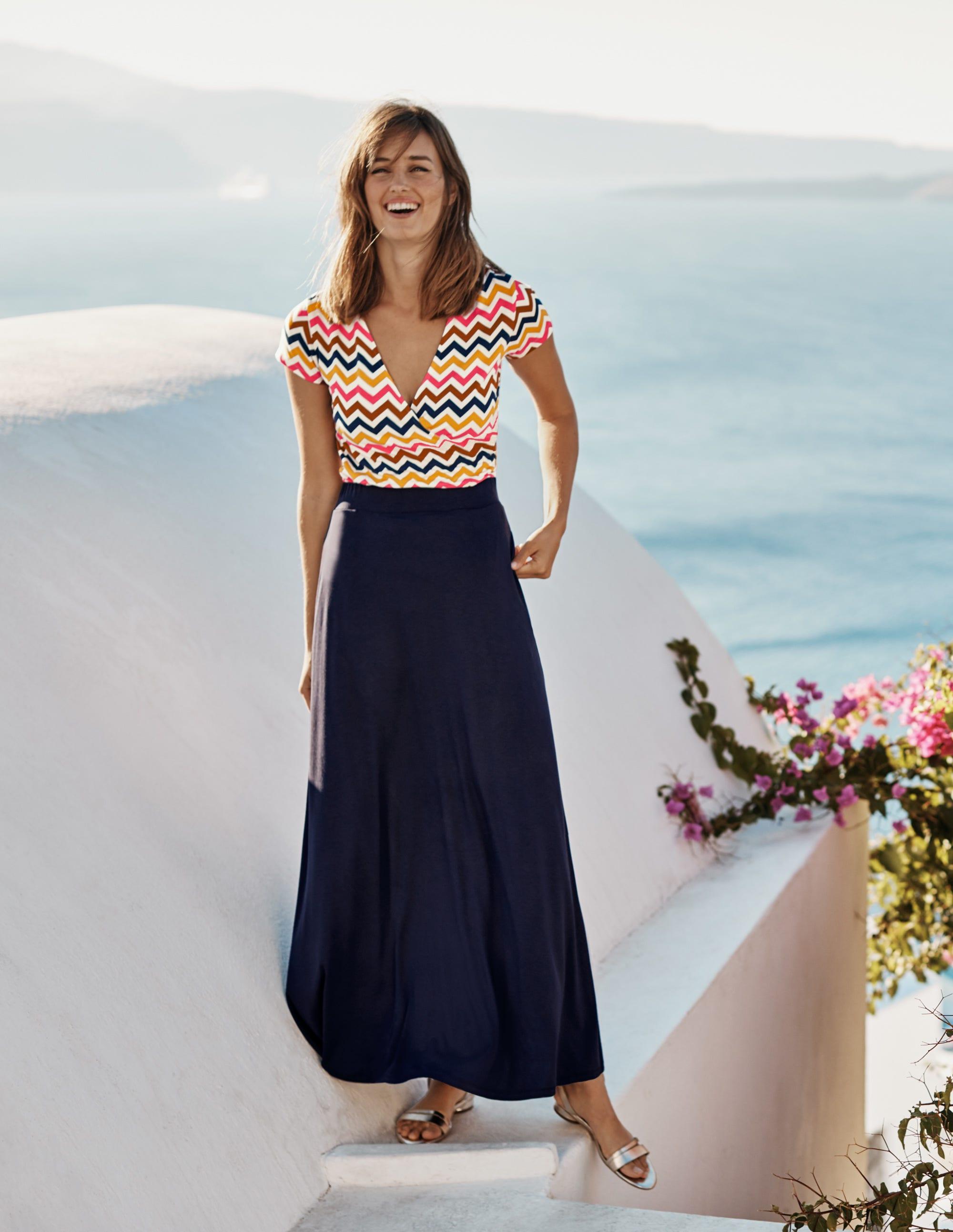Boden Jersey Maxi Skirt - Navy