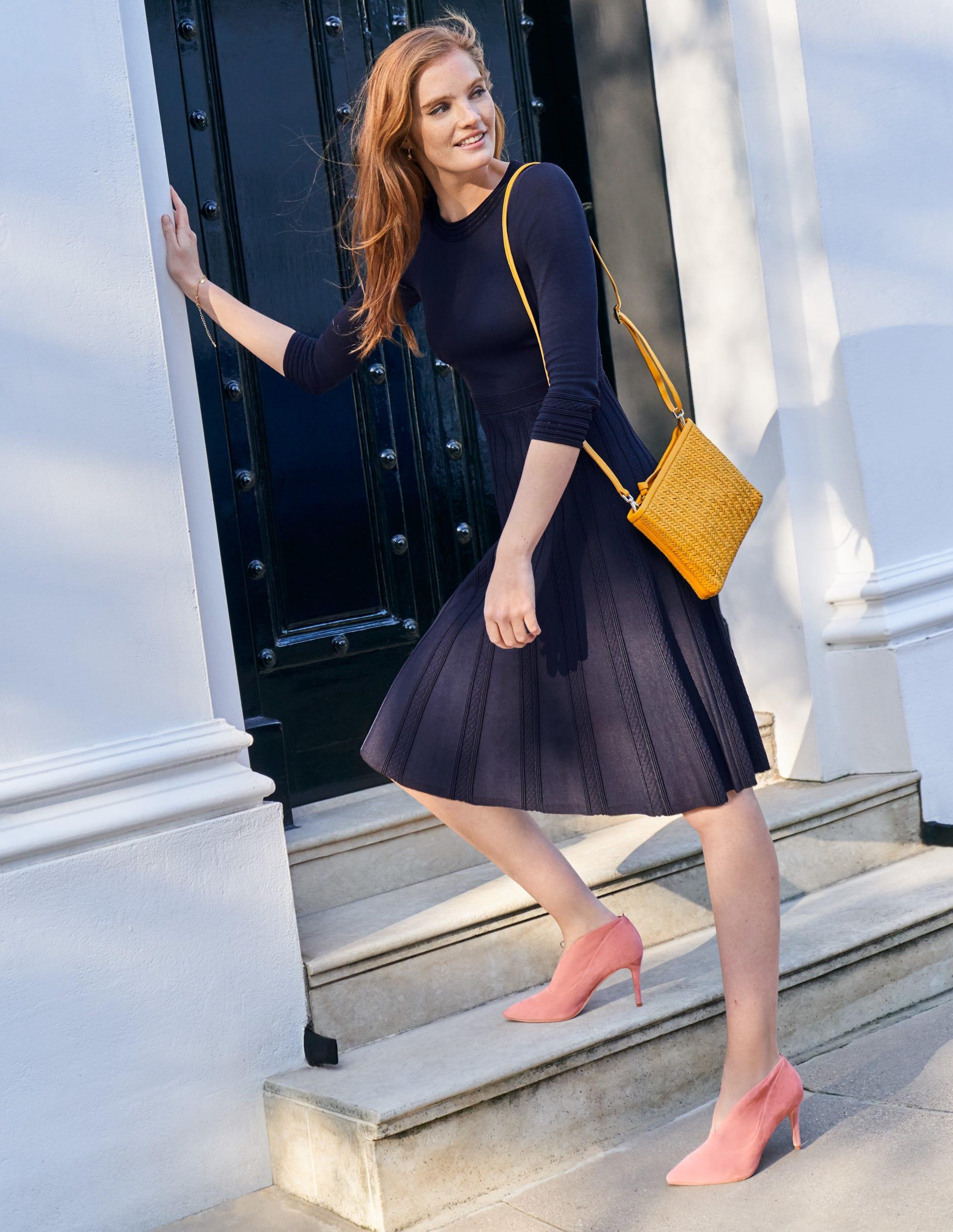 Boden Lorna Knitted Dress - Navy