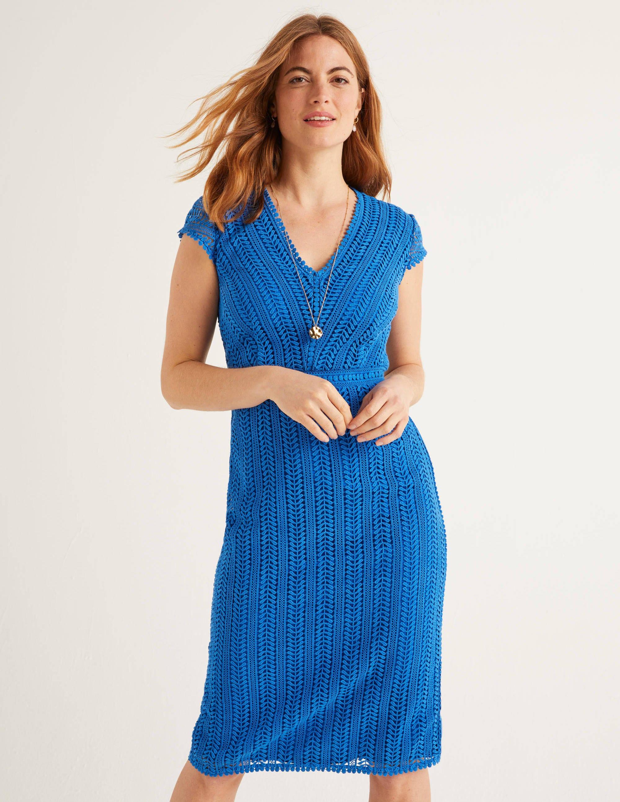 nancy spitzenkleid - kräftiges blau