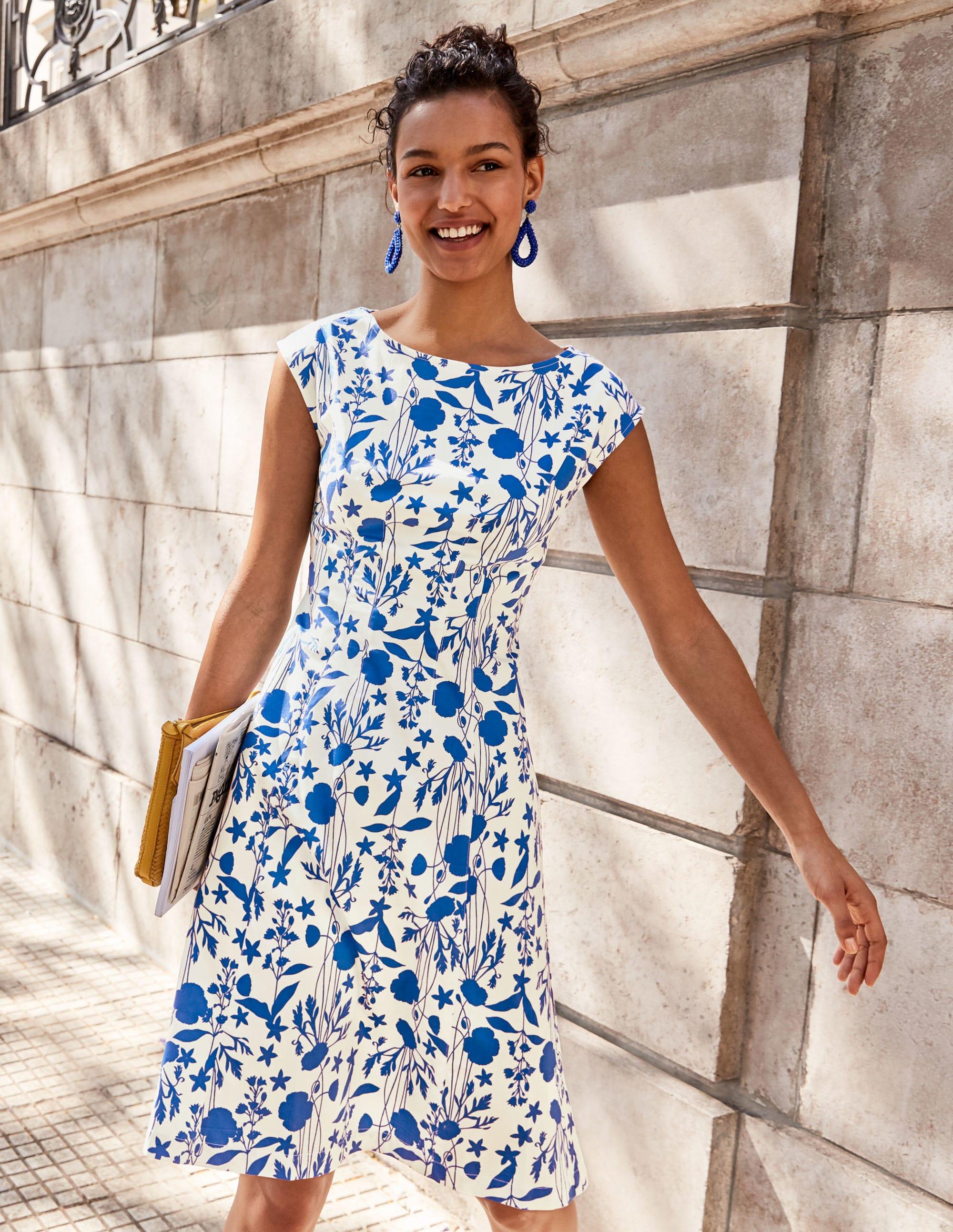 Rosamund Dress - Ivory, Garden Charm