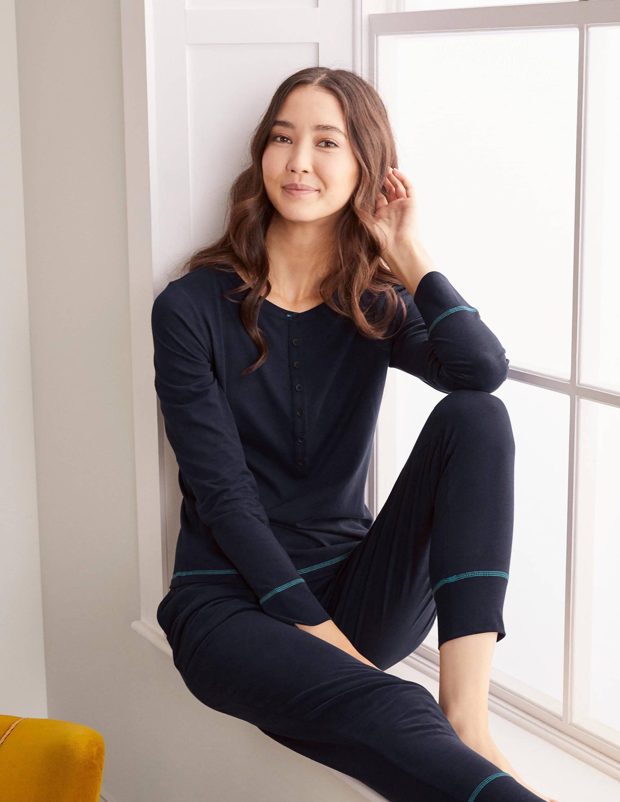 Boden Alba Jersey Pajama Top - Navy
