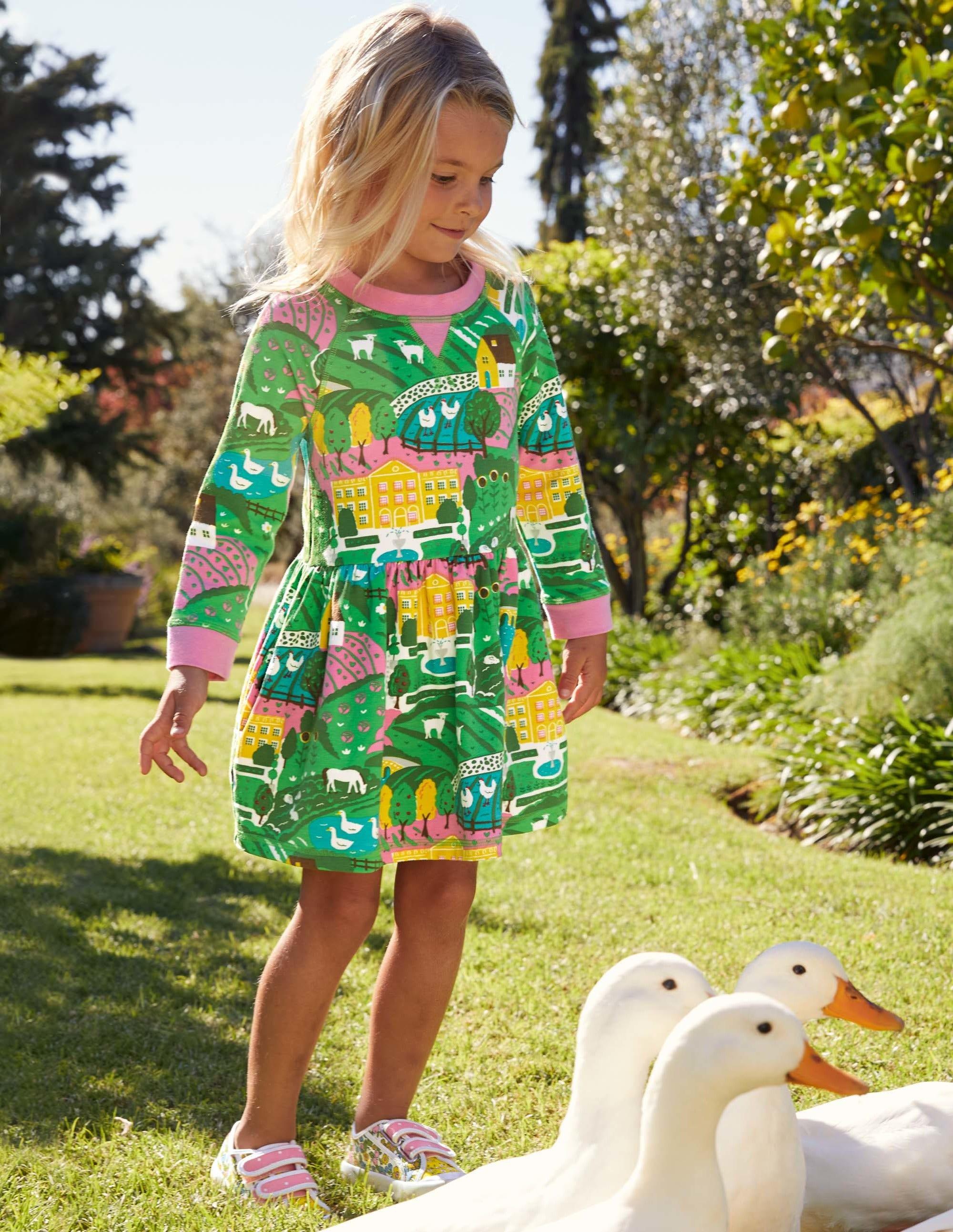 Boden Jersey Sweatshirt Dress - Multi Country House