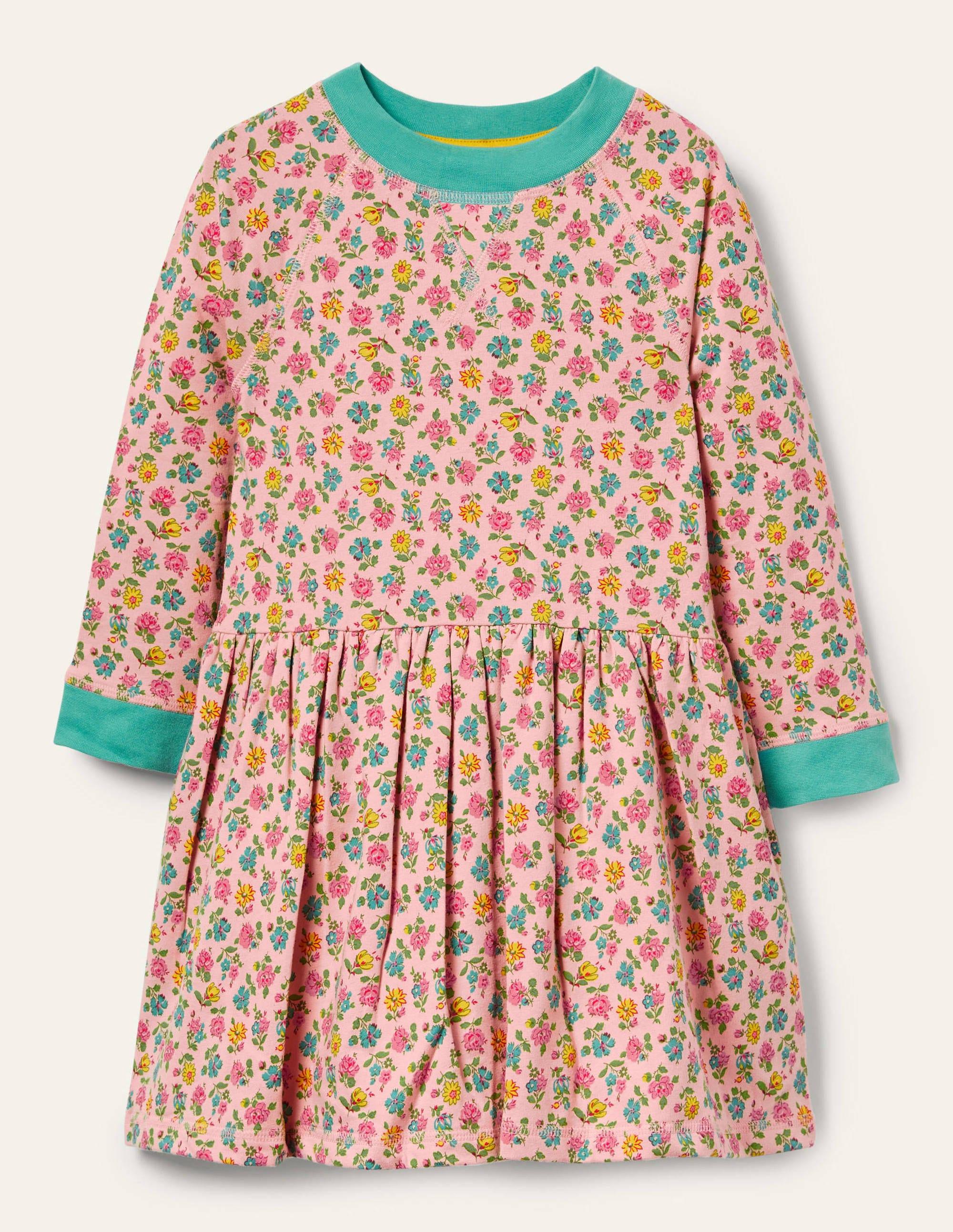 Boden Jersey Sweatshirt Dress - Provence Pink Patchwork Floral