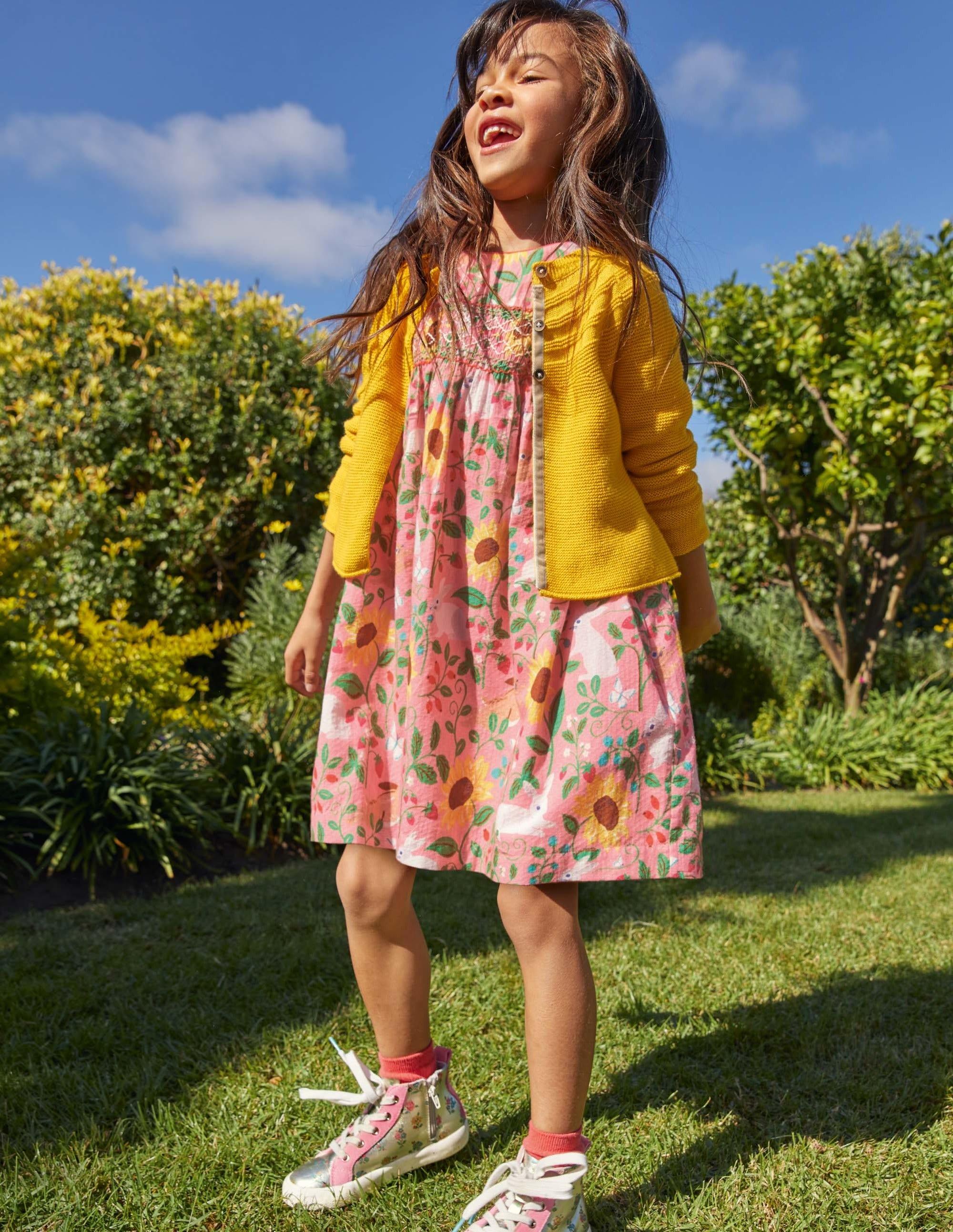 Boden Smocked Dress - Pink Lemonade Berry Patch