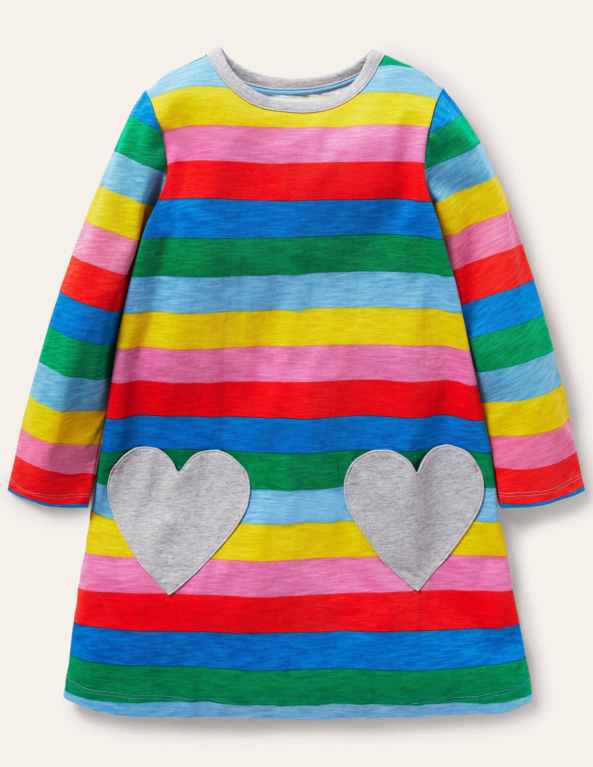 Boden Fun Pocket Jersey Dress - Multi Stripe