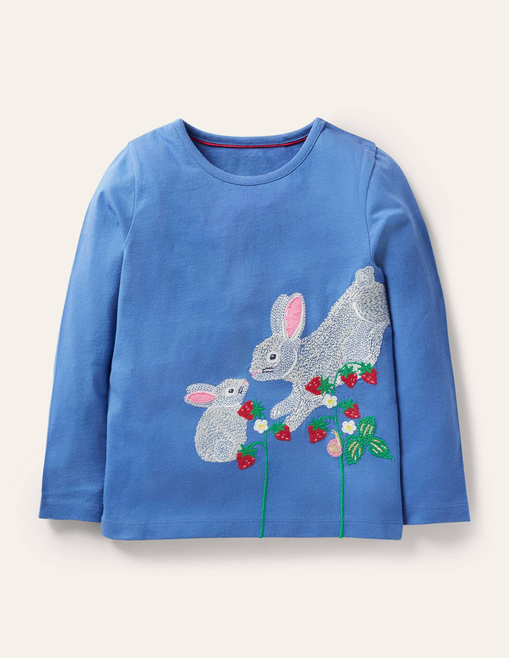 Boden Superstitch T-shirt - Elizabethan Blue Bunnies