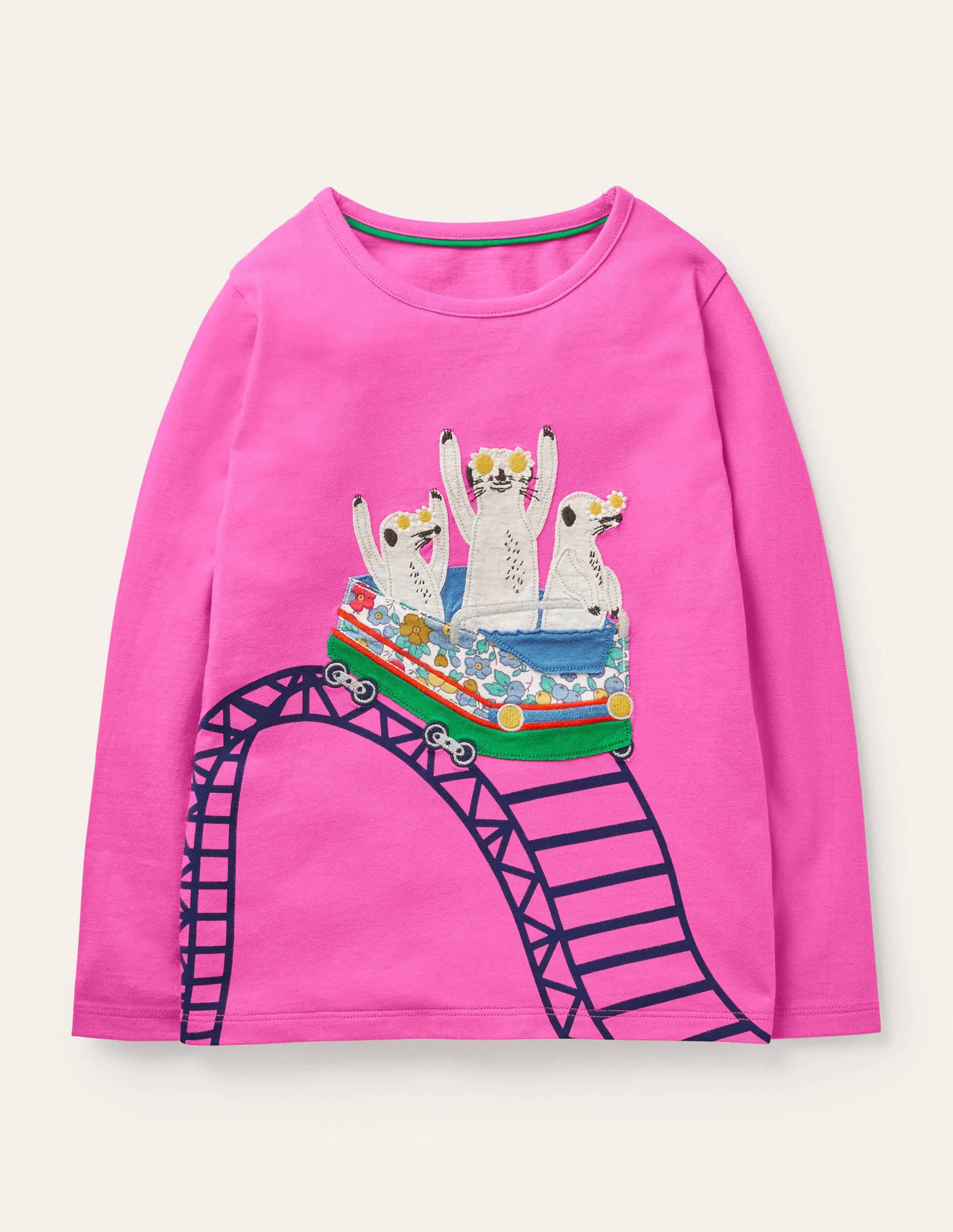 Boden Front & Back T-shirt - Tickled Pink Meerkats
