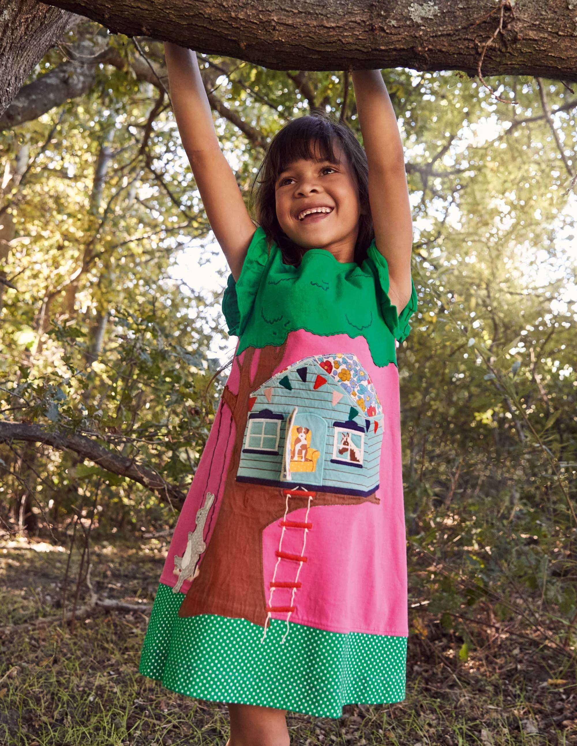 Boden Lift The Flap Jersey Dress - Tickled Pink Tree House