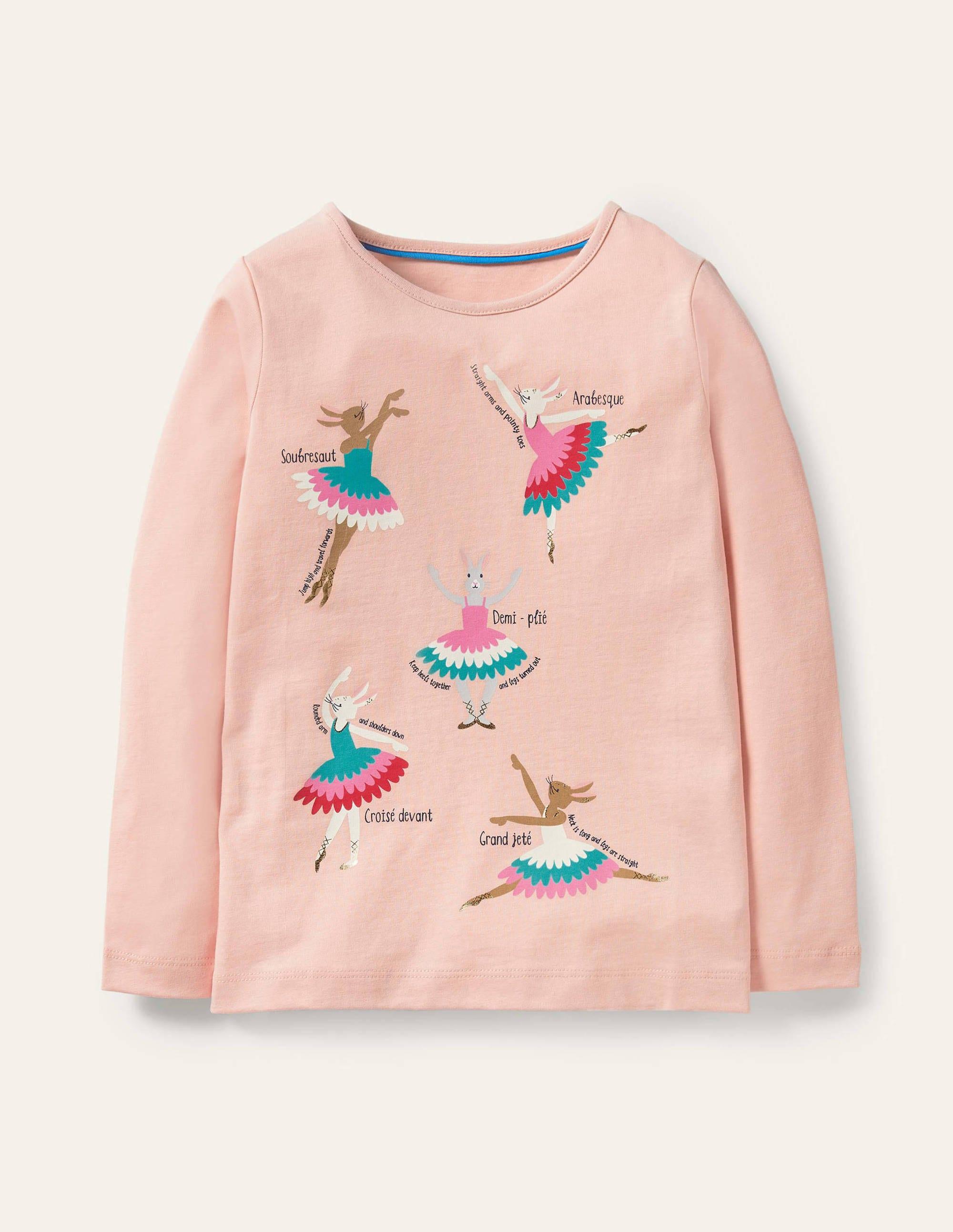 Boden Fun Facts T-shirt - Provence Dusty Pink Ballerinas