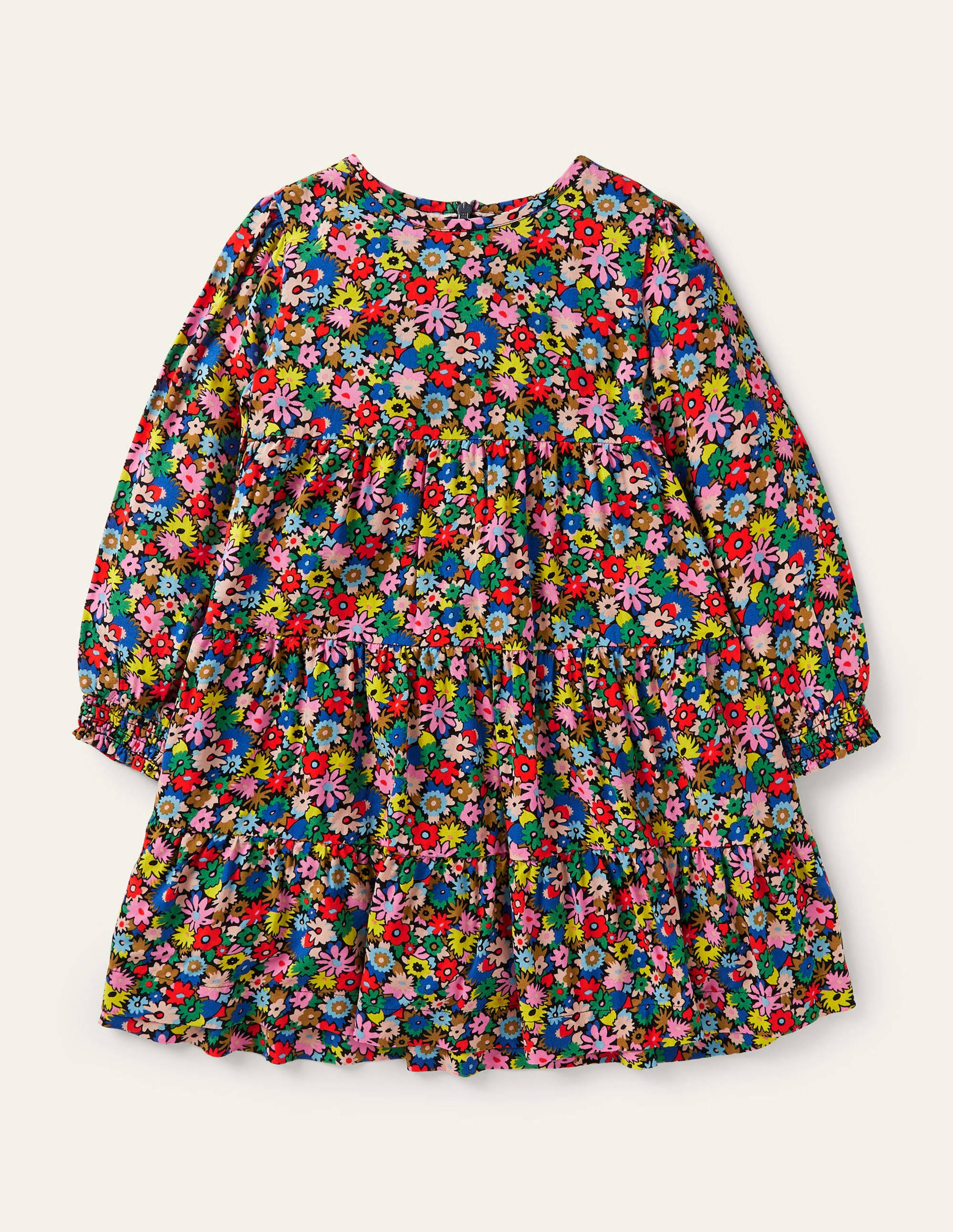 Boden Mini Me Multi Tiered Dress - Multi Paintbox Ditsy